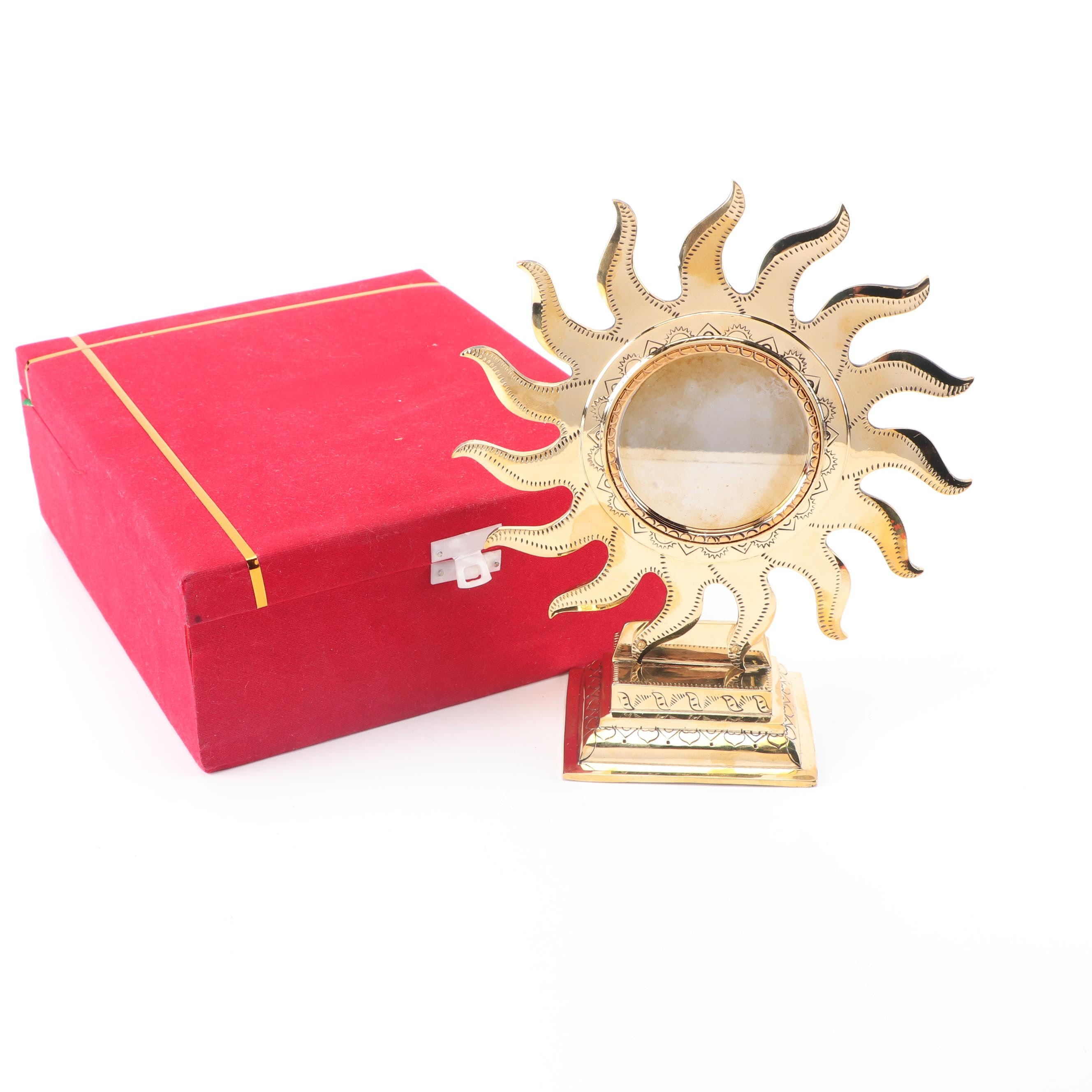 """Aranmula Kannadi Metal Mirror """"Suryan Sun Base"""""""
