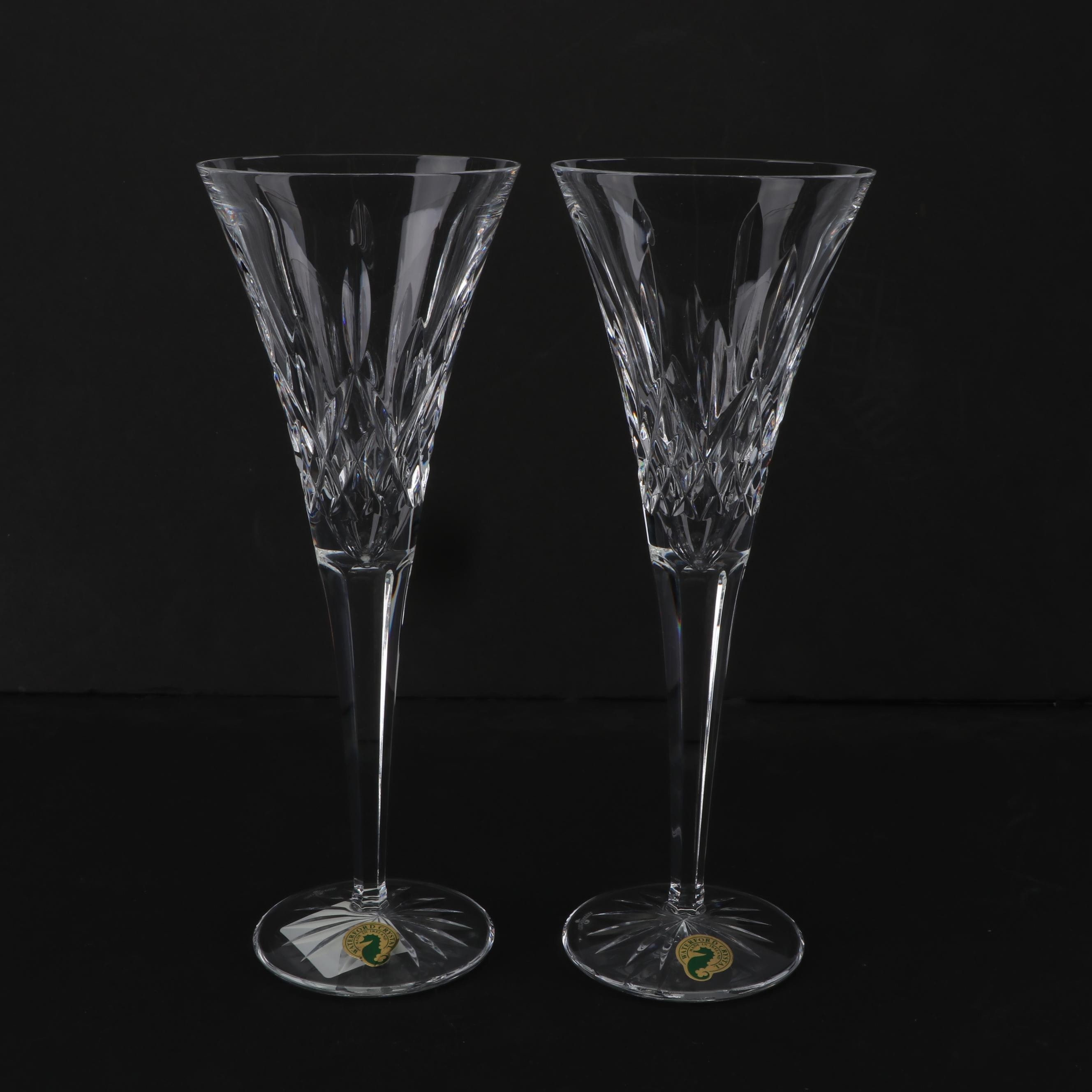 "Waterford Crystal ""Lismore"" Toasting Flutes"