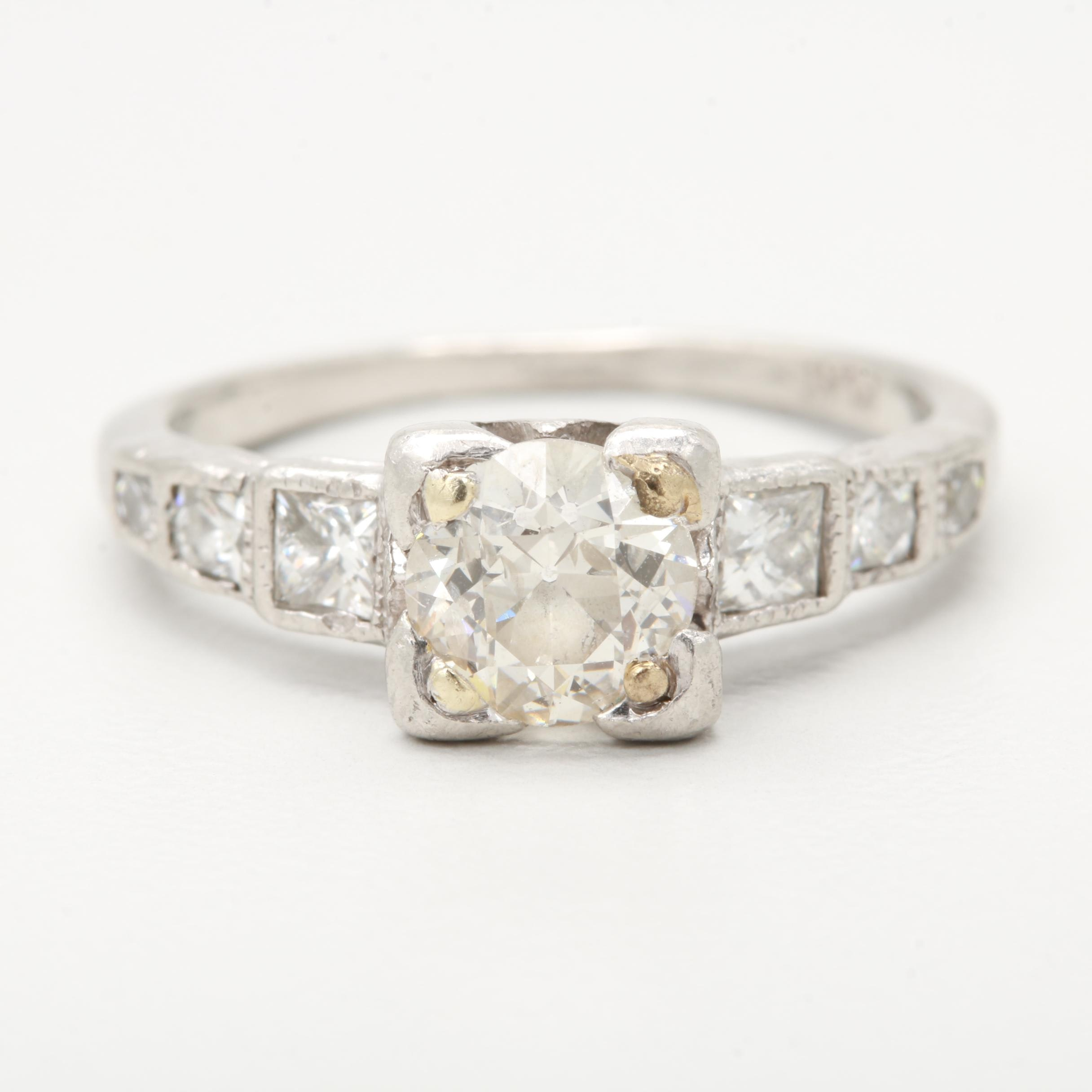 Platinum 1.06 CTW Diamond Ring