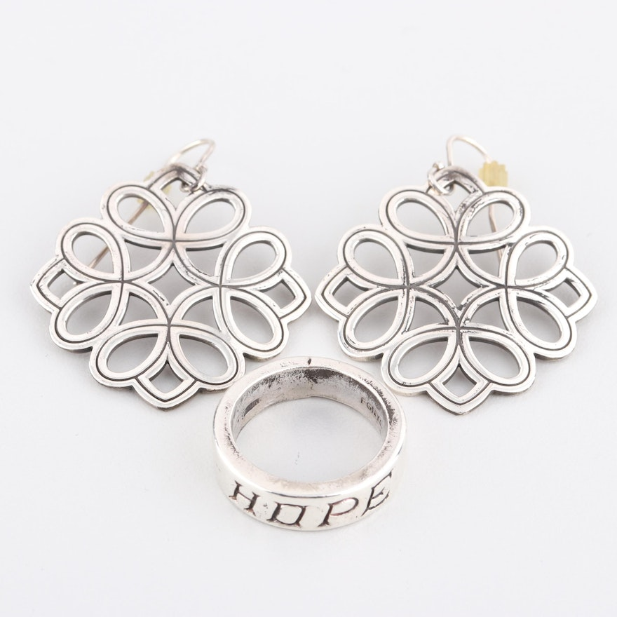 7e1ad8055 James Avery Sterling Silver Earrings and Sterling