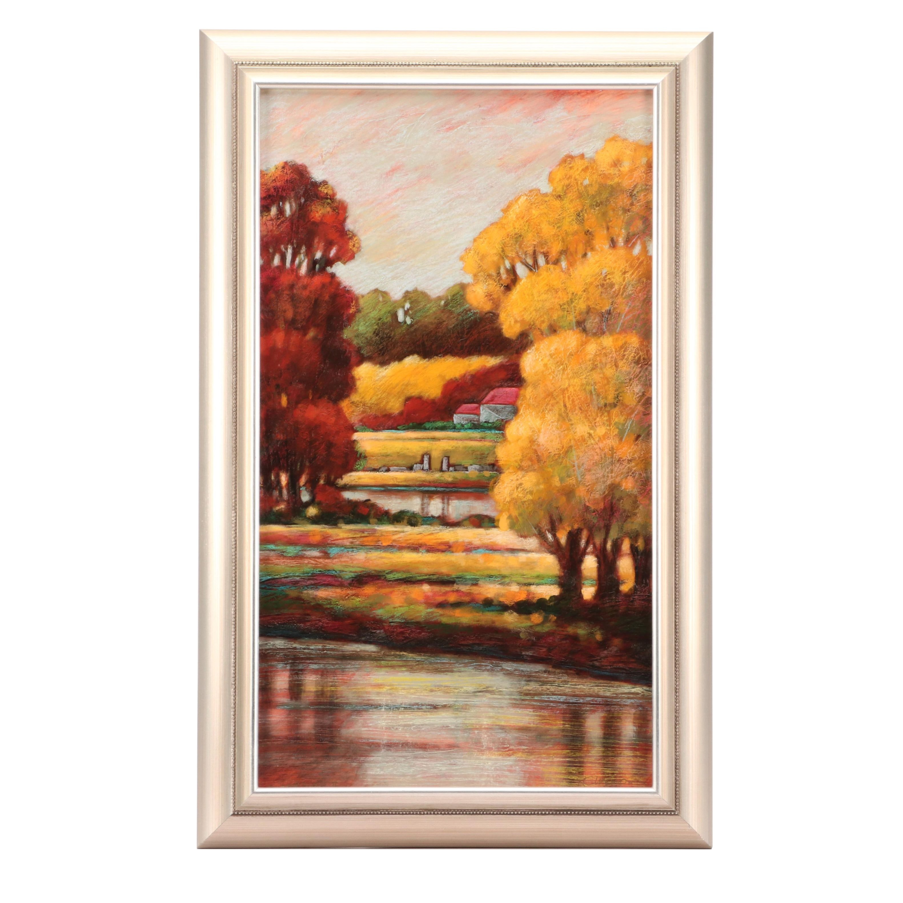 Oil Painting of a Fall Landscape