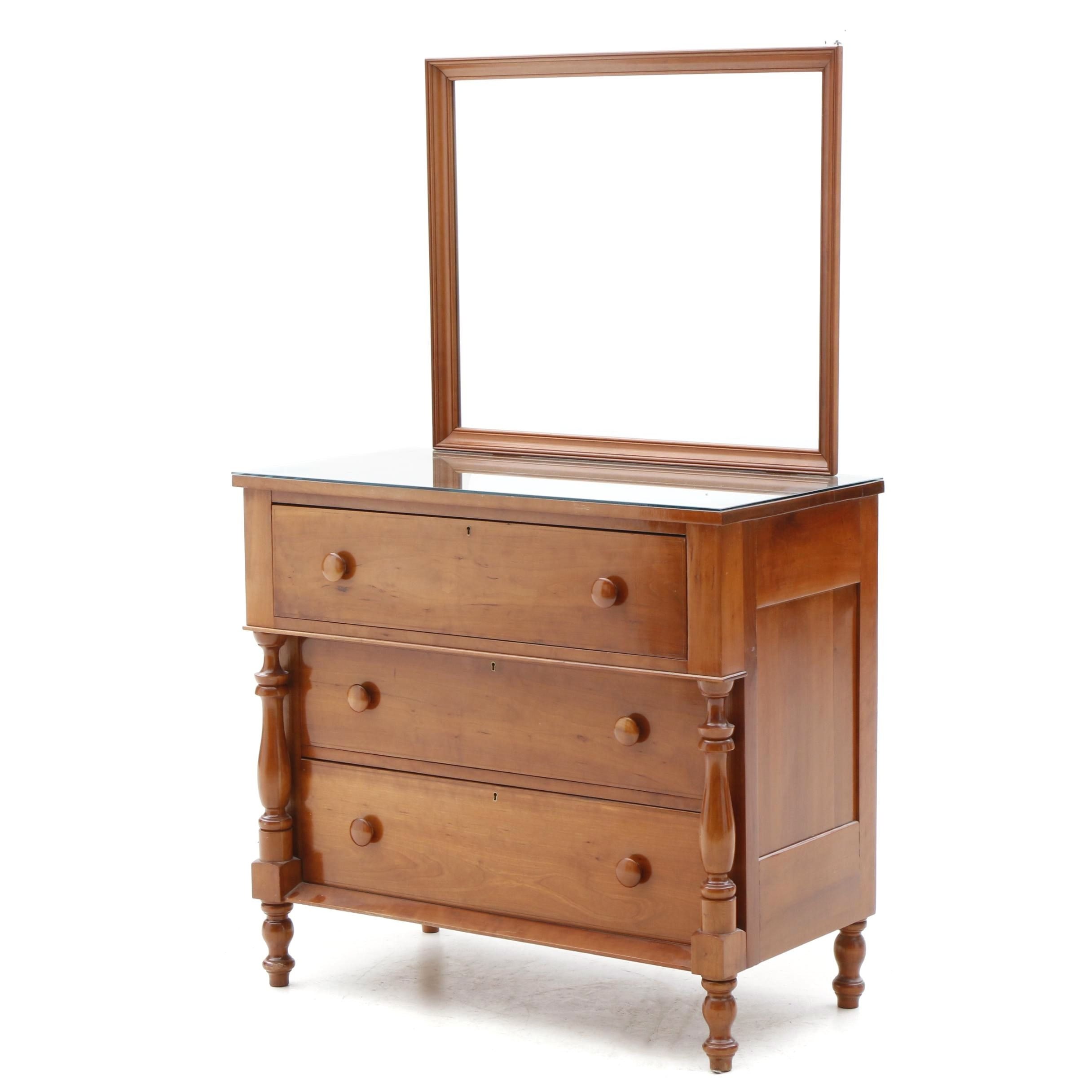 American Empire Style Cherrywood Chest of Drawers, Mid-20th Century