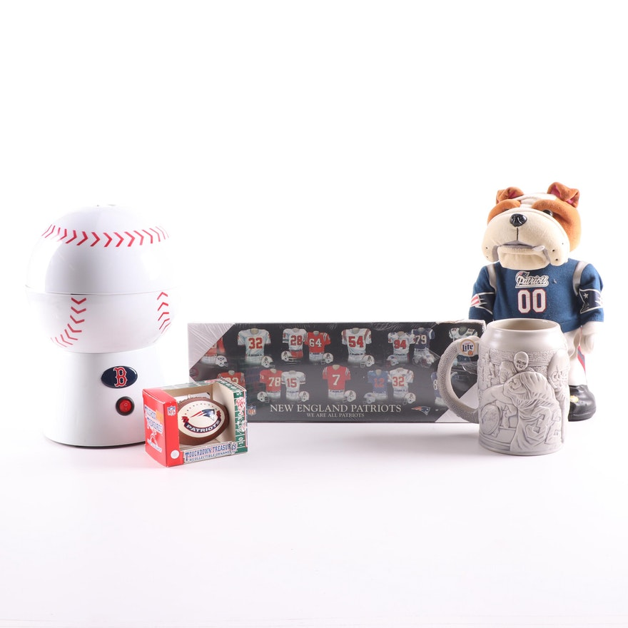 New England Patriots and Boston Red Sox Memorabilia