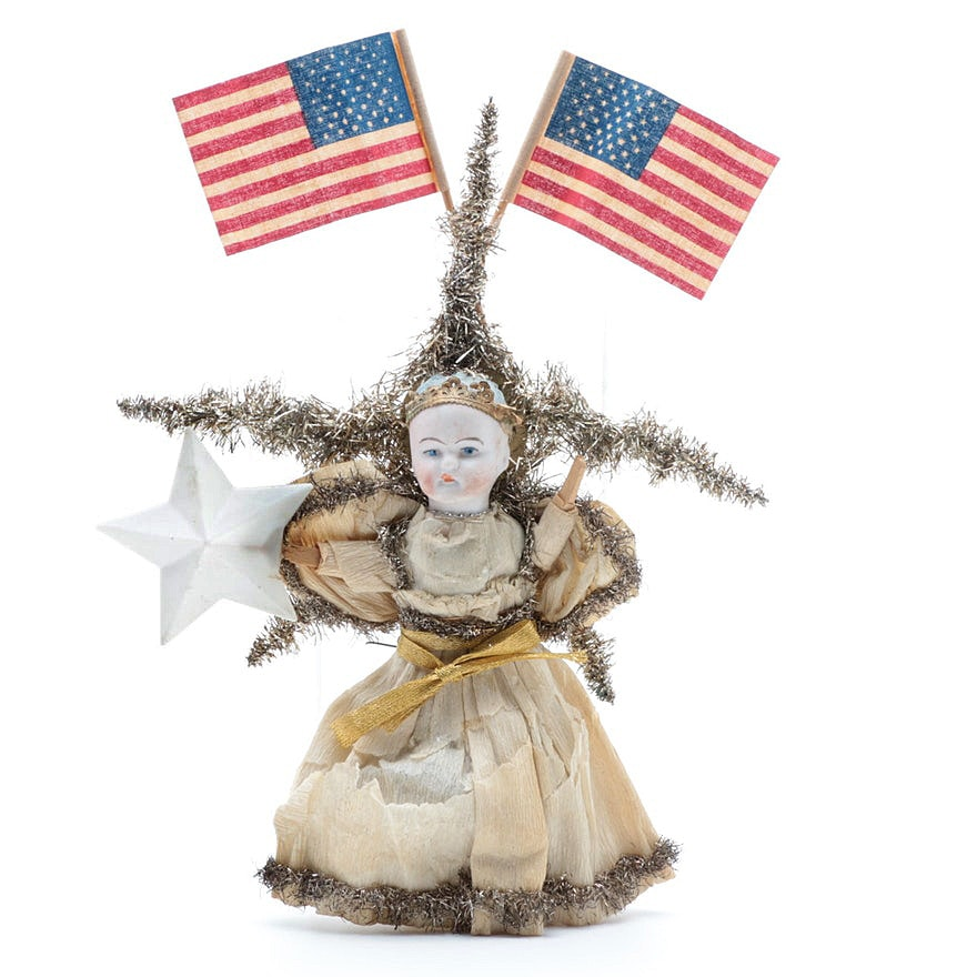 Vintage Hand Crafted Angel Christmas Tree Topper