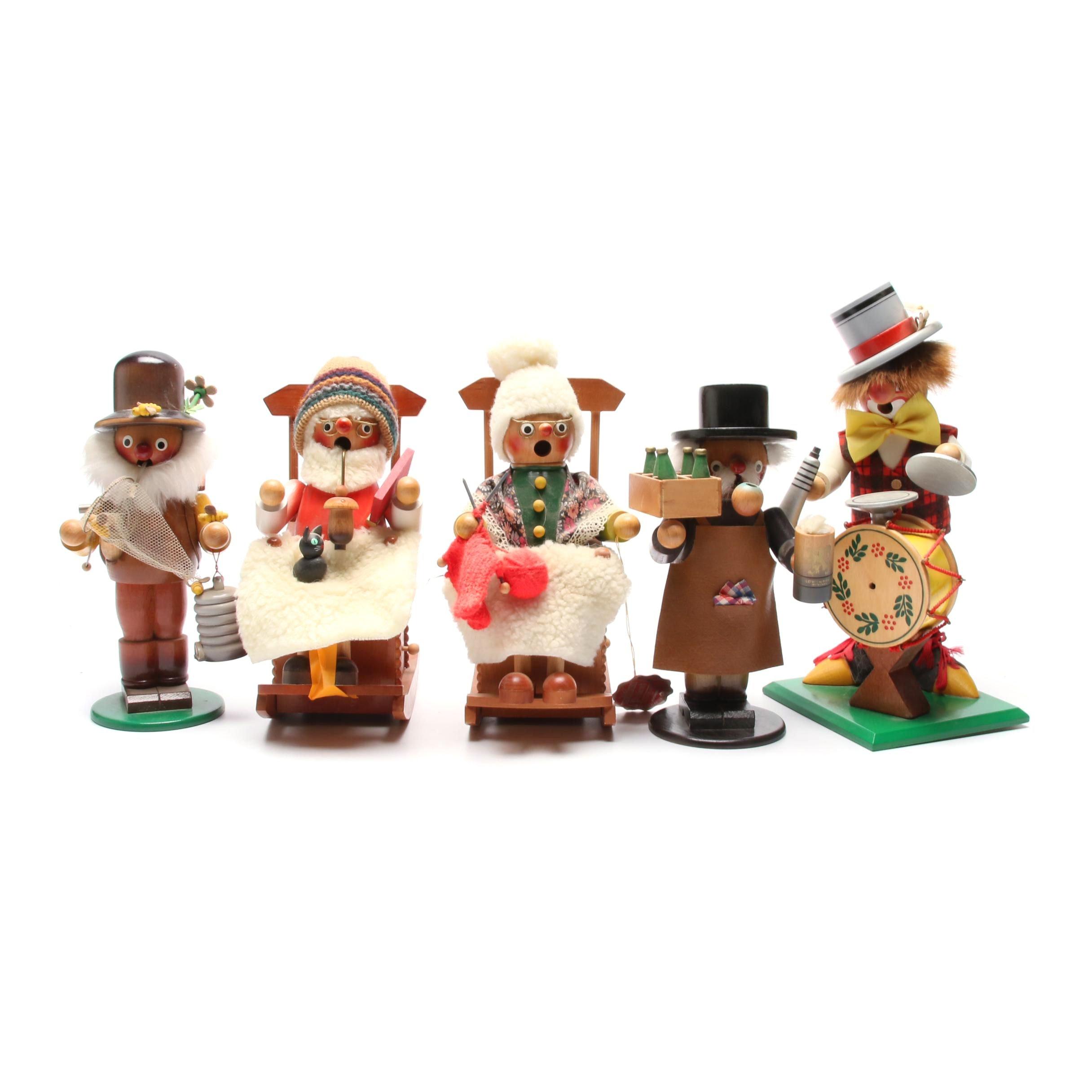 Steinbach and Steinbach Style Music Box Figurines