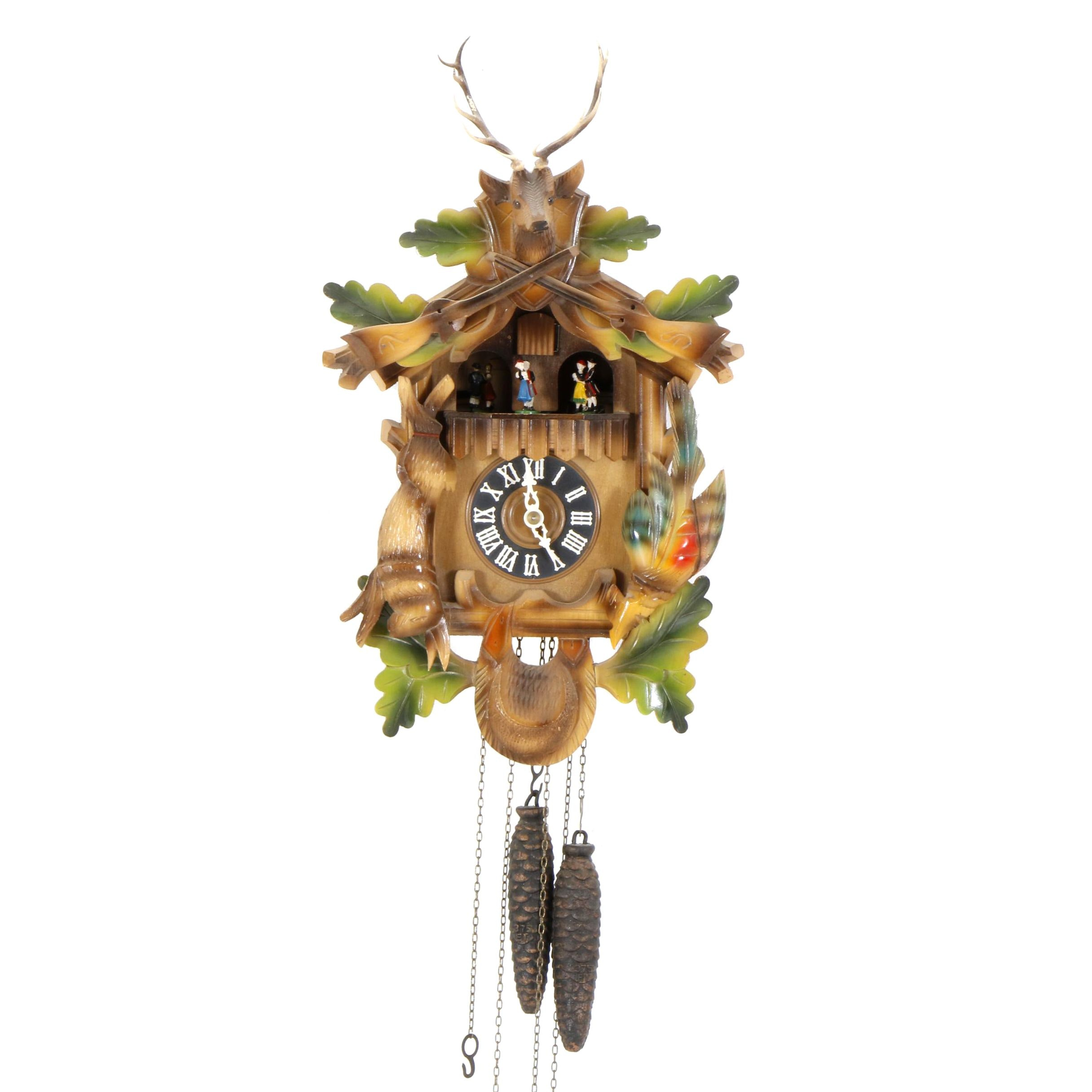 Vintage Wood Carved German Cuckoo Clock