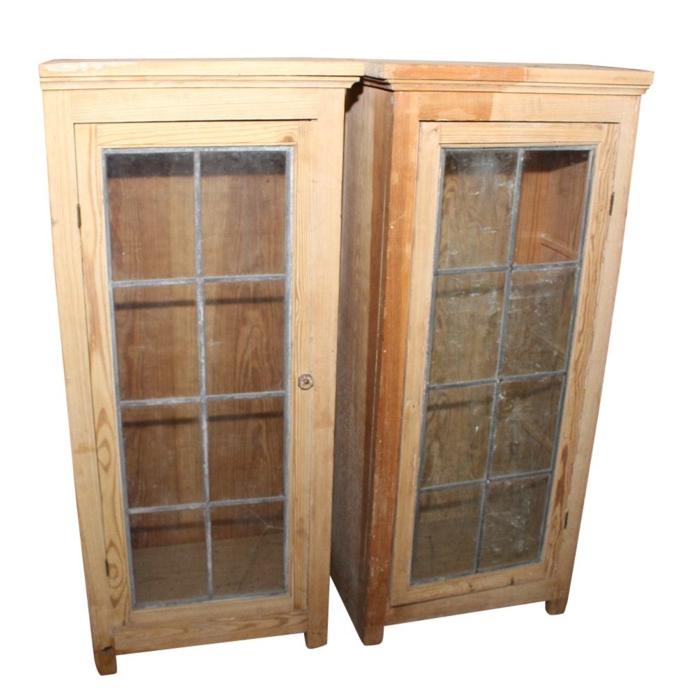 Two Pine Cabinets, 20th Century