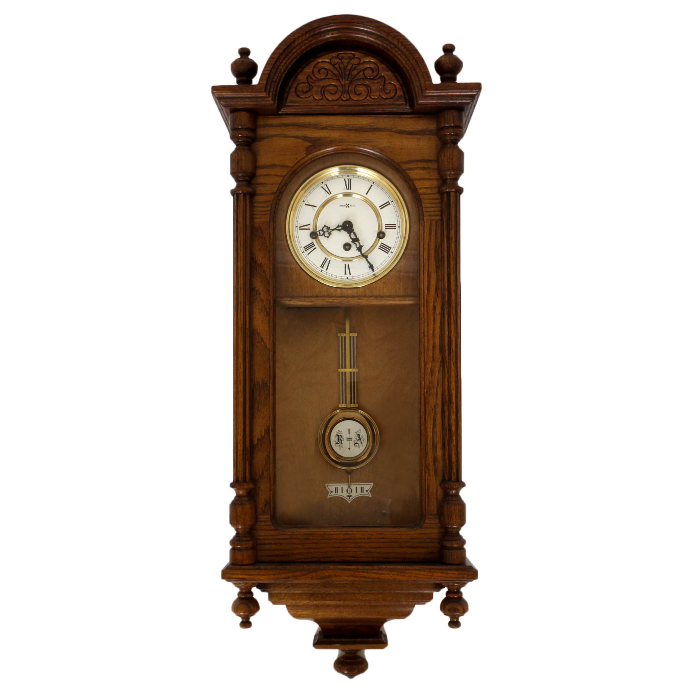 Vintage Howard Miller Wall Clock With Westminster Chime Ebth