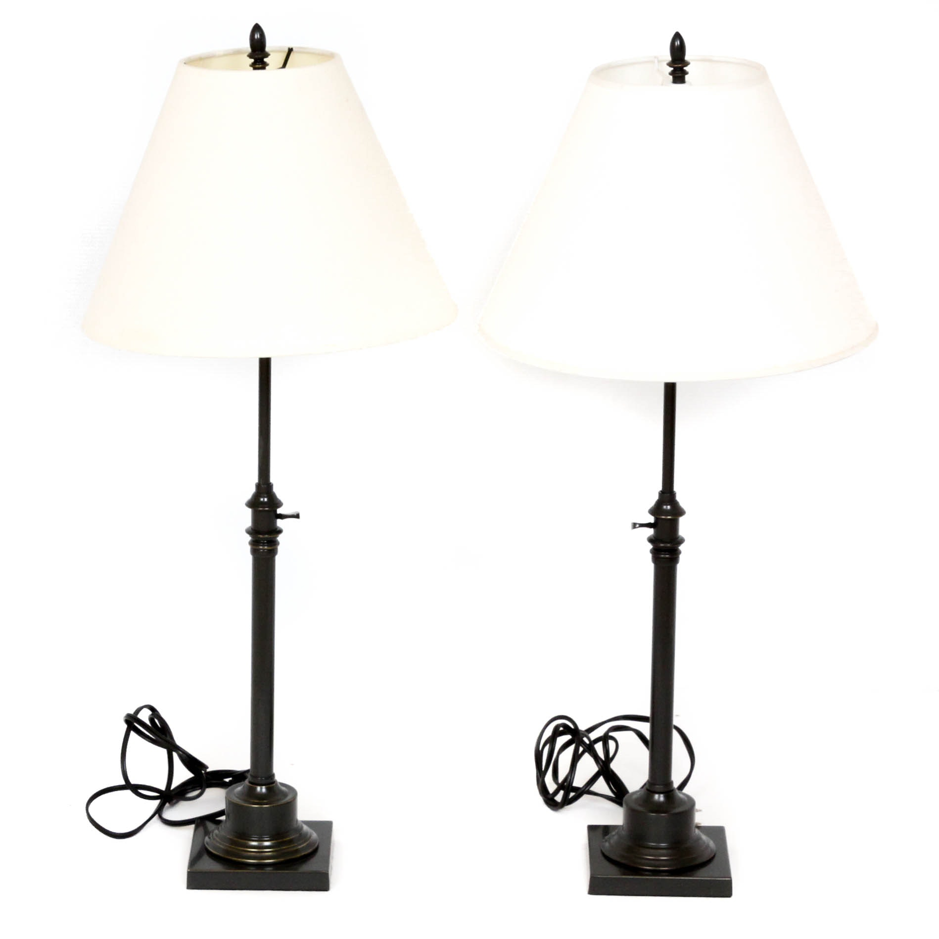 Height-Adjustable Metal Table Lamps by Restoration Hardware