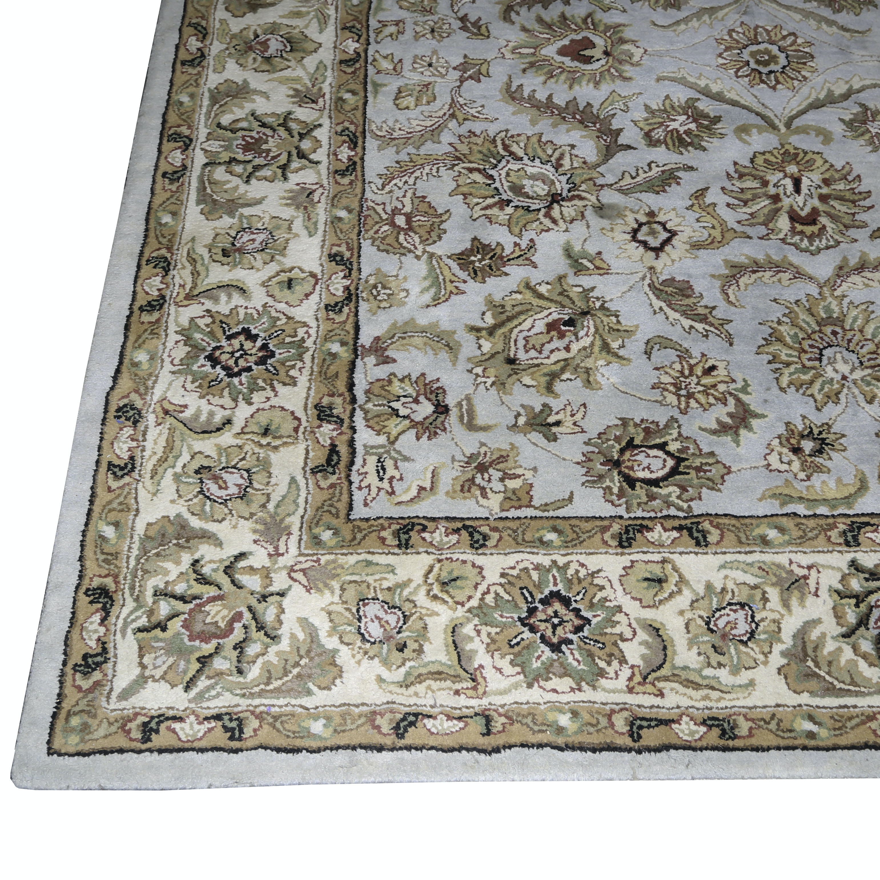 Indian Hand Tufted Rug Home Haveli Collection Wool Area Rug Ebth