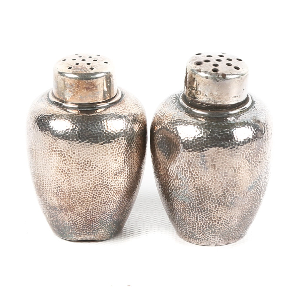 Sterling Silver Samarai Shokai Salt and Pepper Shakers