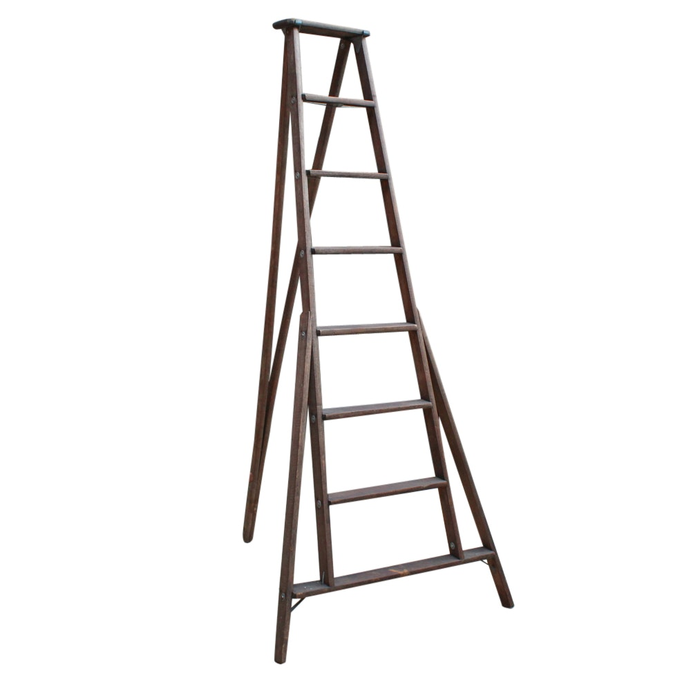 Wooden Picking Ladder, 20th Century