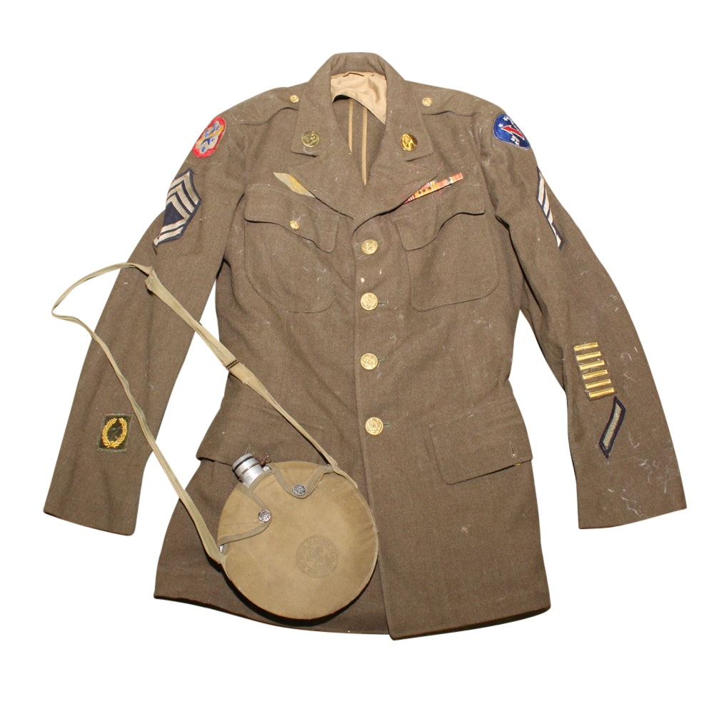 Boy Scouts Canteen and Uniform Jacket