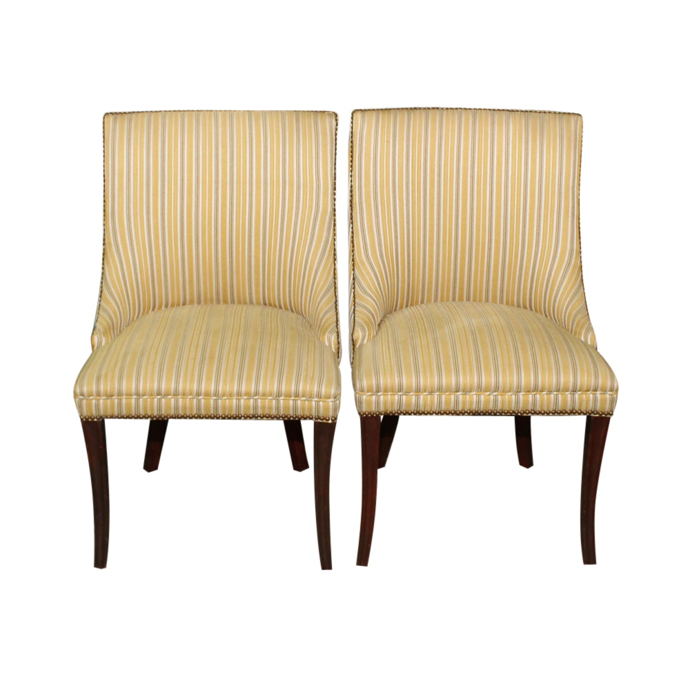 Pair of Contemporary Upholstered Side Chairs