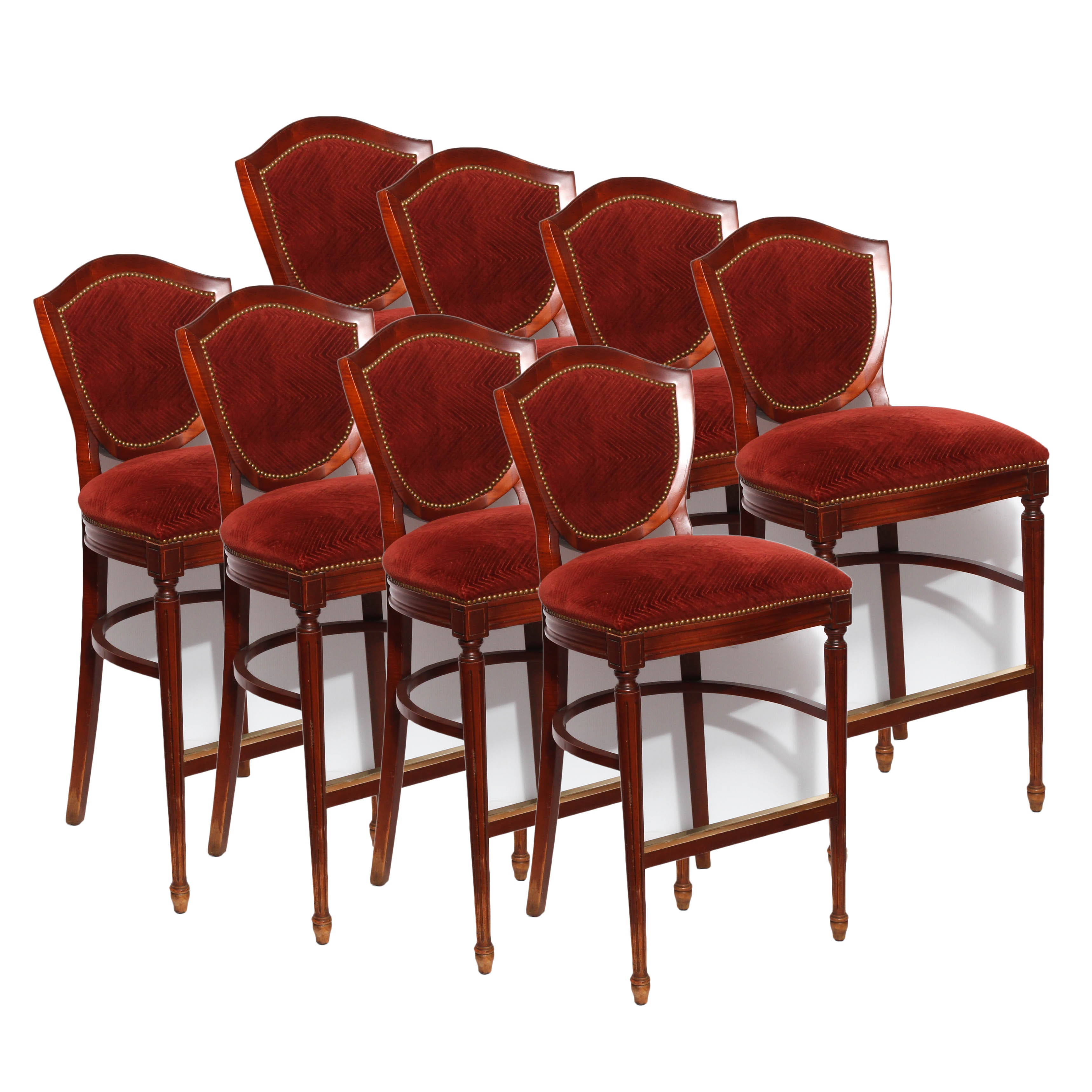 Eight Bar Chairs by Charlotte Chair Company, Late 20th Century