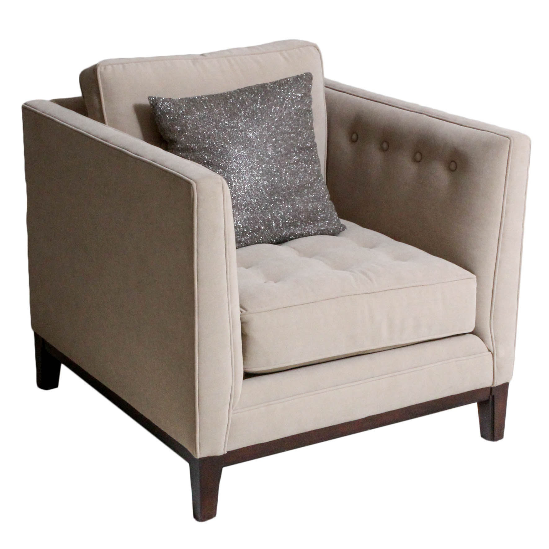 Tufted Armchair by Martha Stewart Signature Furniture with Bernhardt