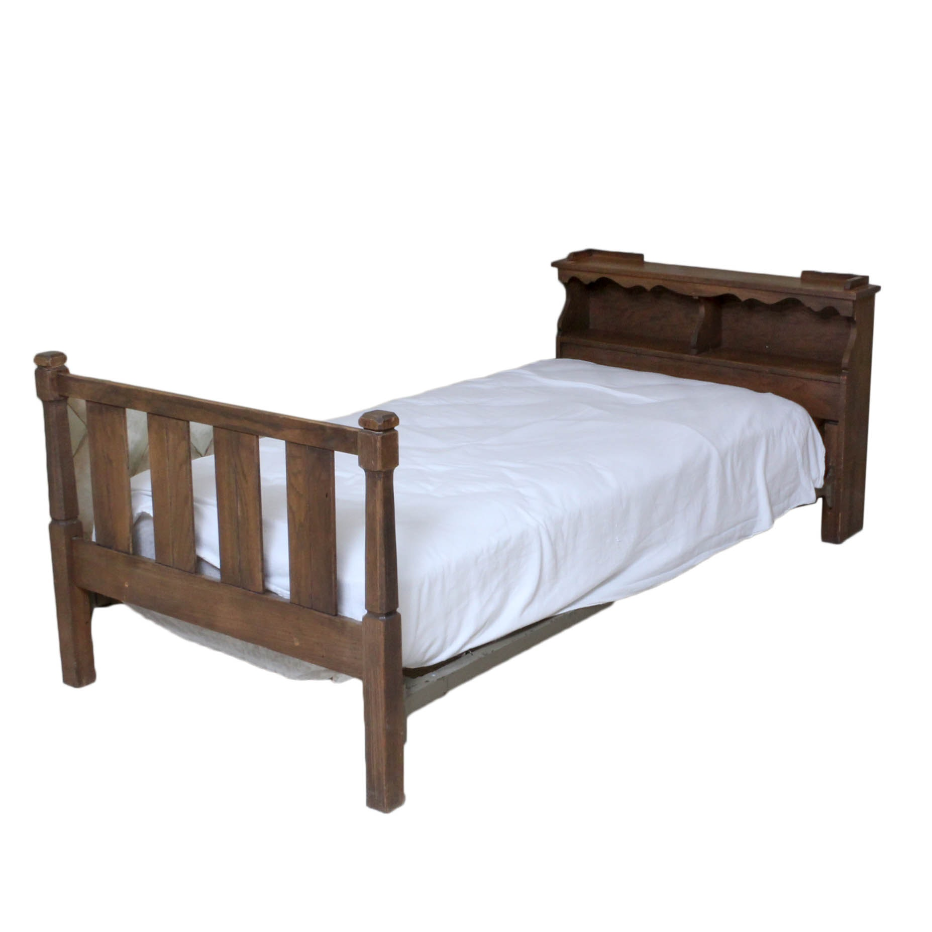 Oak Twin Bed, Late 20th Century