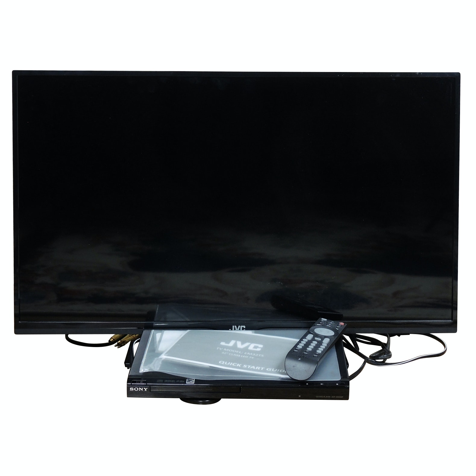 "JVC 32"" Television and Sony CD/DVD Player"