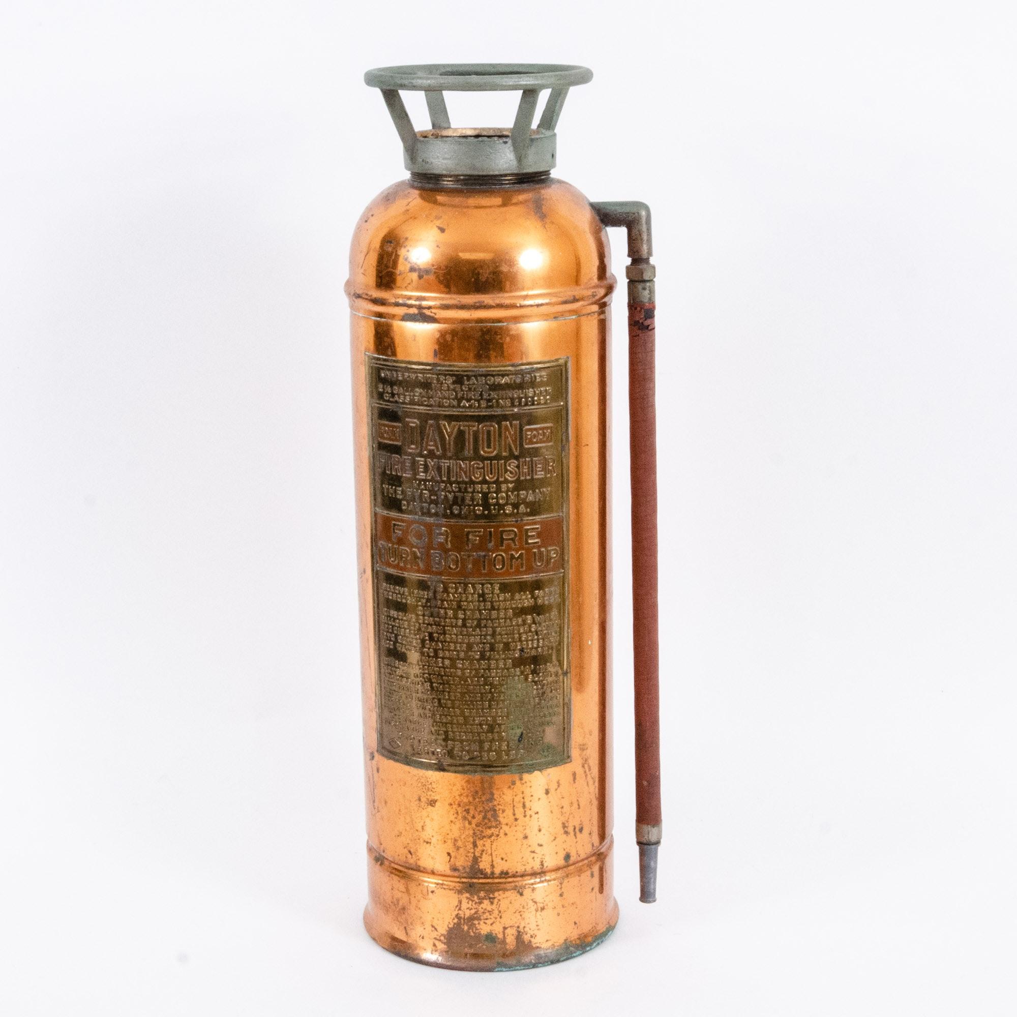 Vintage Copper Fyr-Fyter Fire Extinguisher