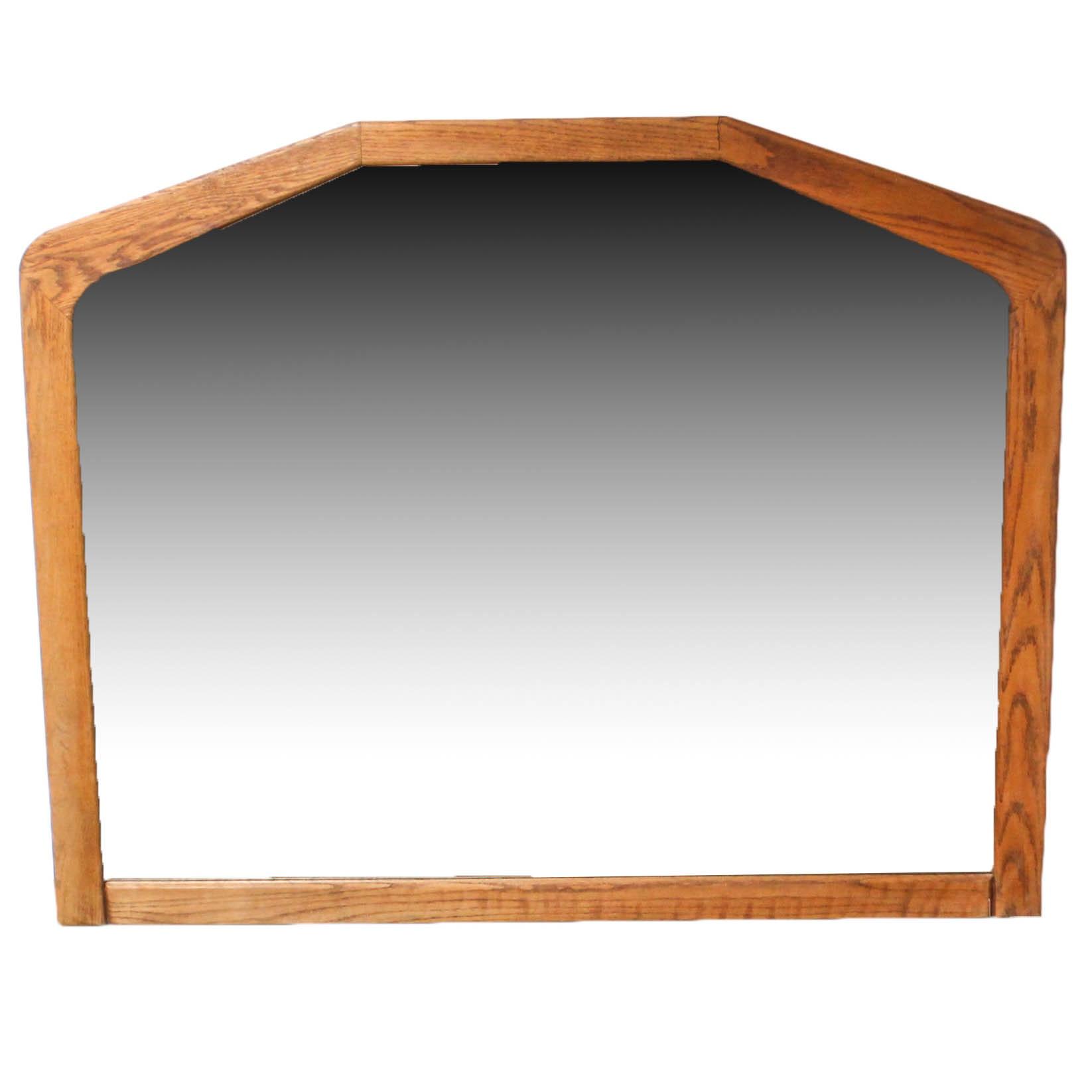 Oak Framed Wall Mirror by Arbek, Late 20th Century
