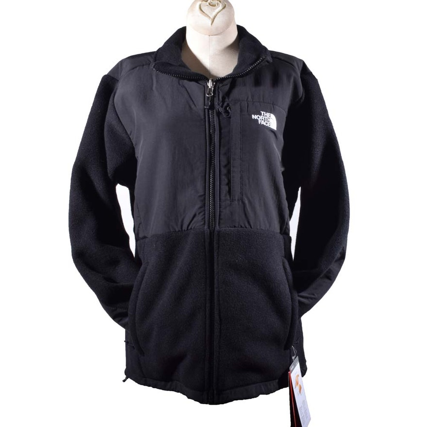 2fba59032 Women's The North Face Denali Polartec Classic 300 Black Zipper-Front Jacket