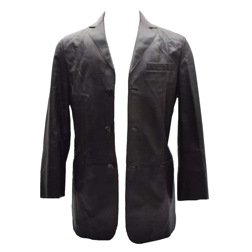 b3bc1757f0b3 Men's Armani Collezioni Brown Lambskin Jacket : EBTH