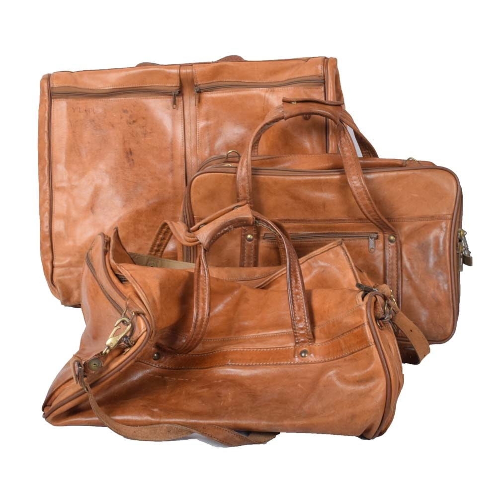 Hartmann Leather Luggage Set
