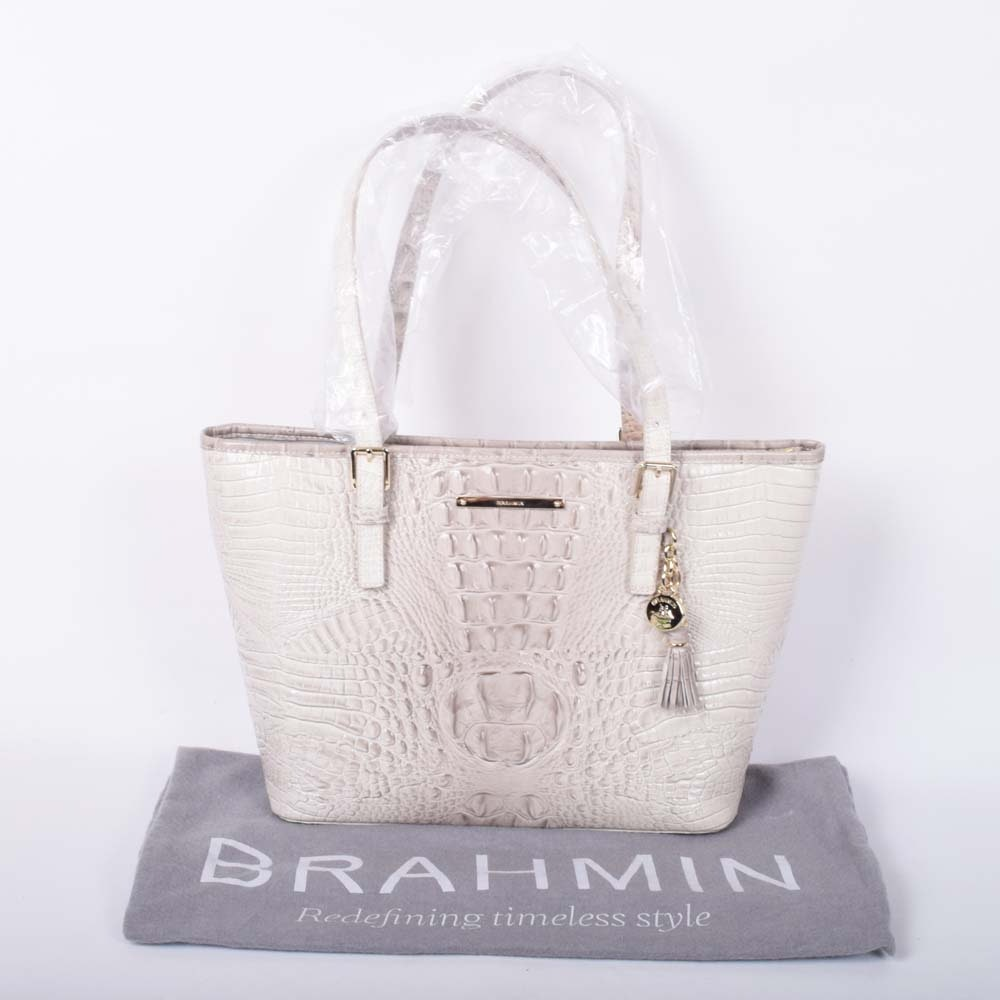 Brahmin Melbourne Croc Embossed Leather Asher Tote