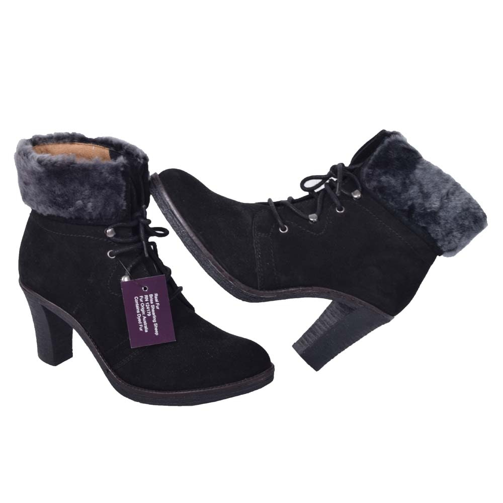 Women's Johnson & Murphy Suede High-Heel Boots