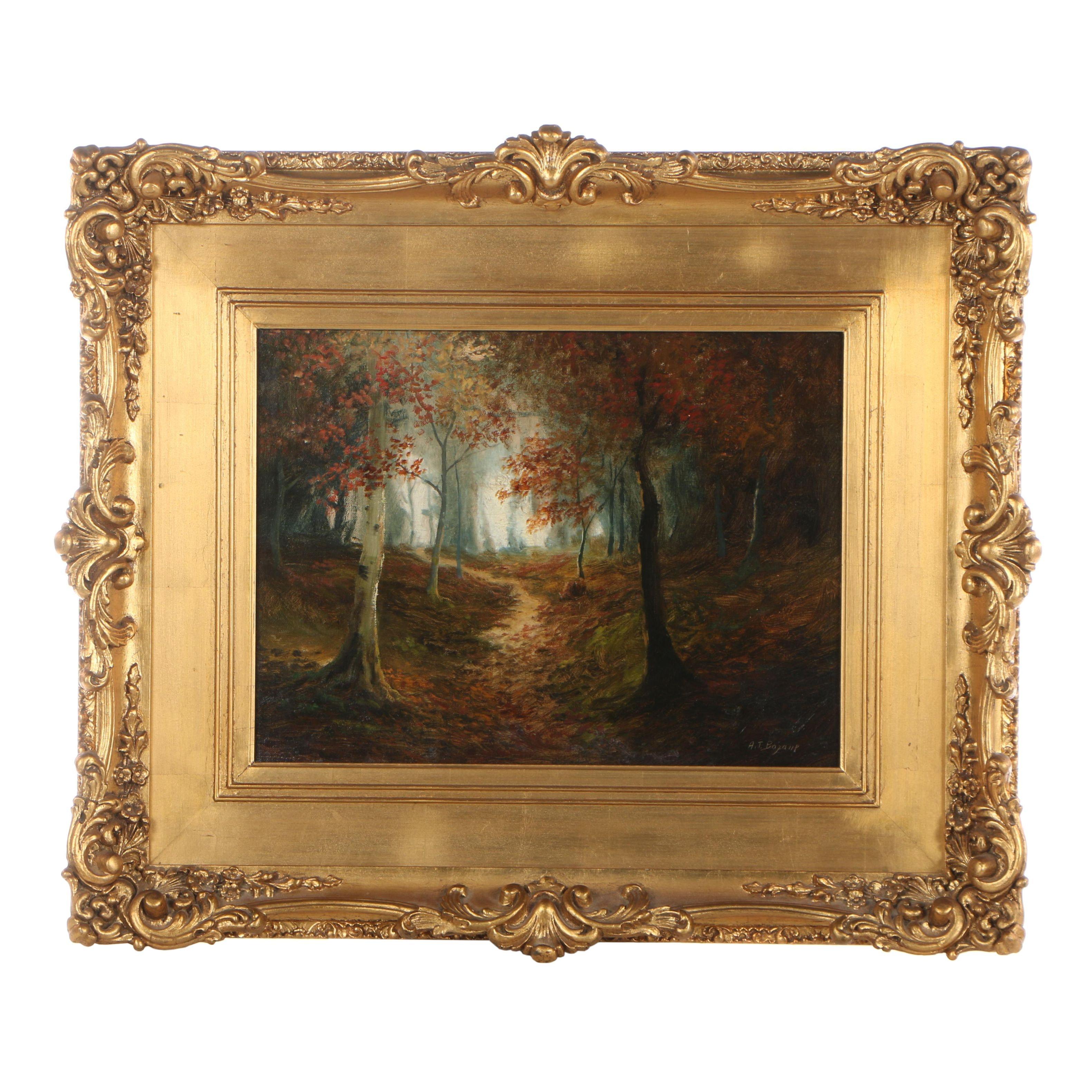 A.T. Bazane Landscape Oil Painting