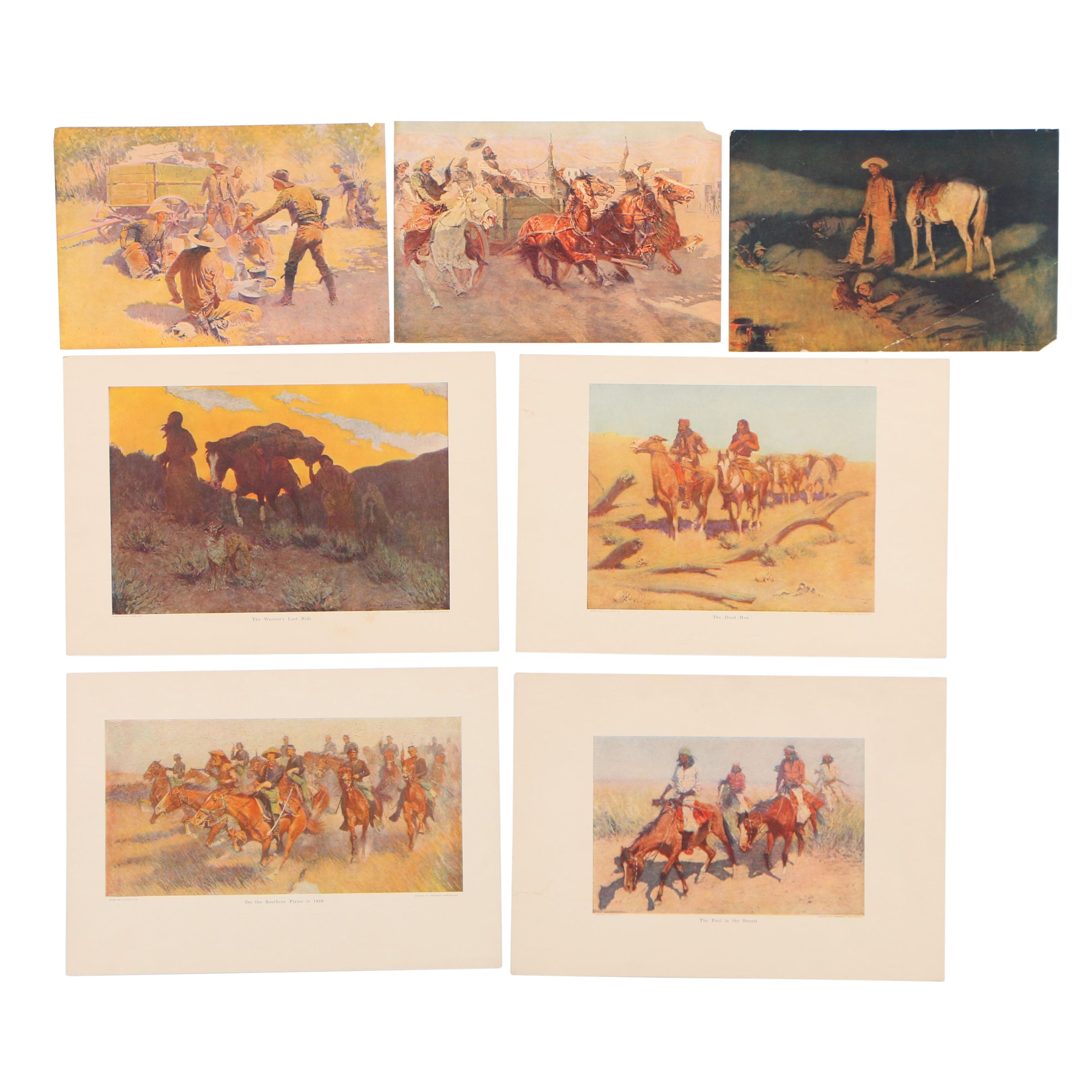 Offset Lithographs after Frederic Remington