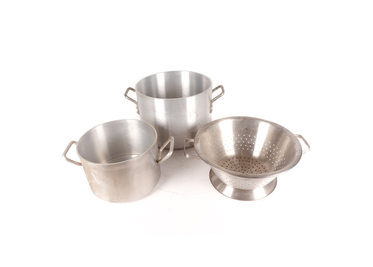 Wear-Ever and Dura-Wear Stockpots and Colander