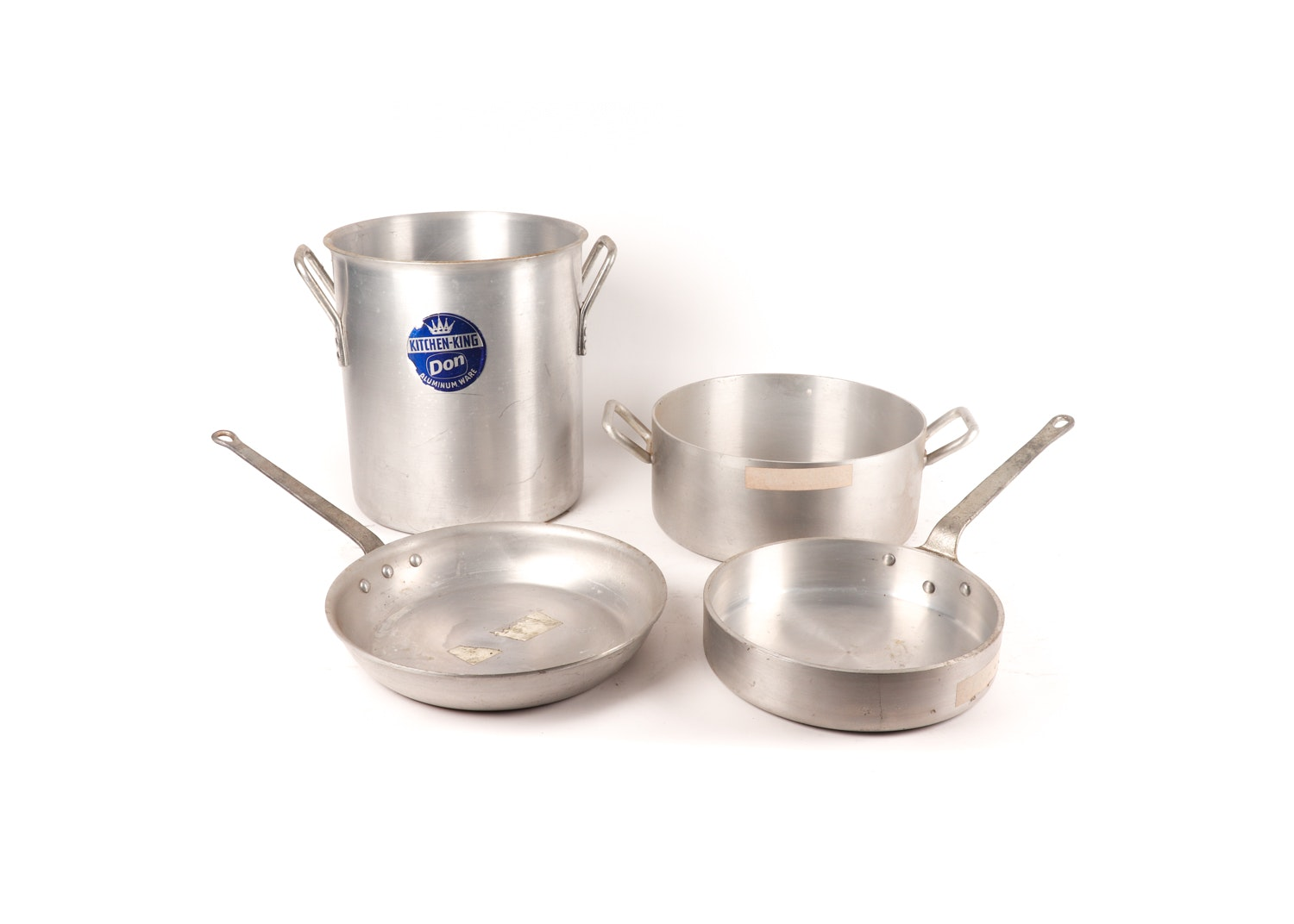 Vintage Aluminum and Stainless Steel Cookware featuring Wear-Ever