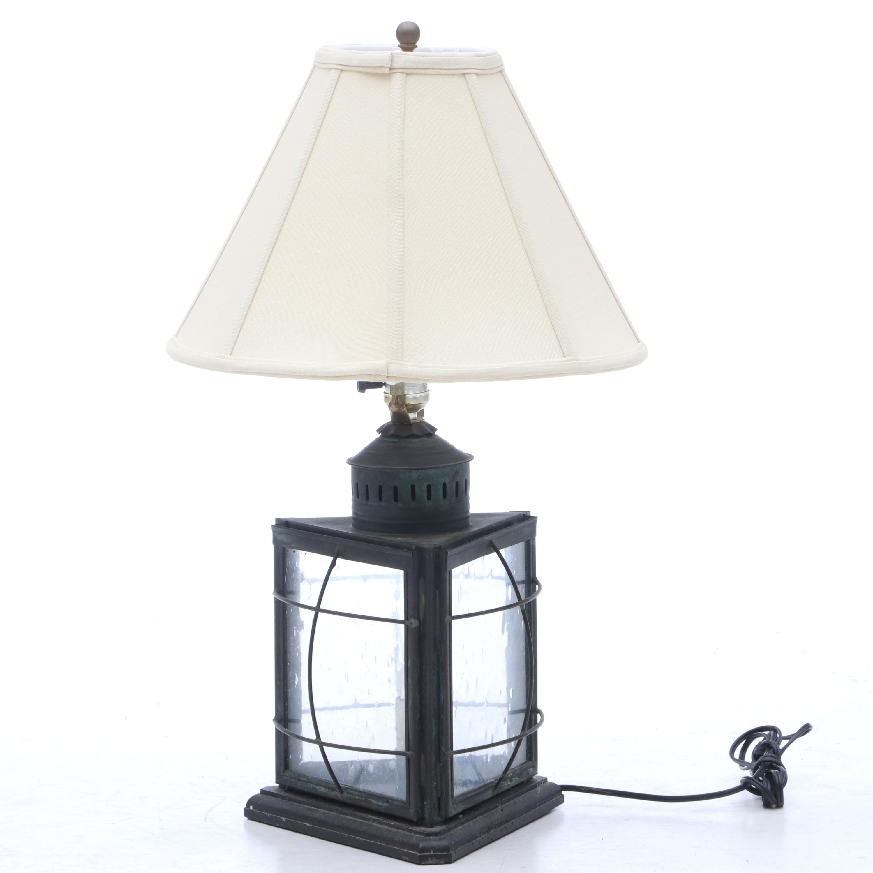 Converted Carriage Lantern Table Lamp