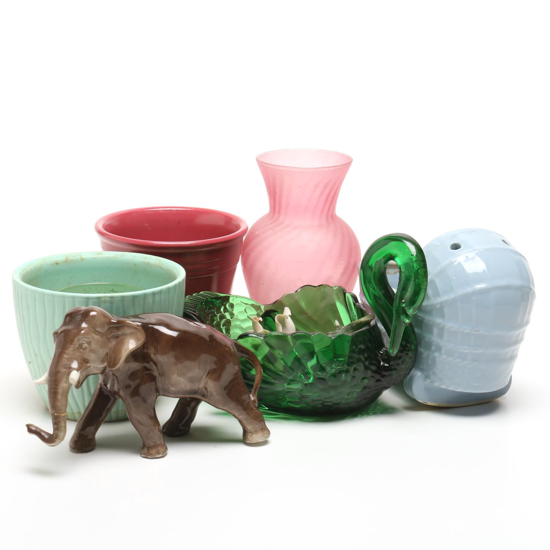 Assorted Ceramic and Glass Table Decor