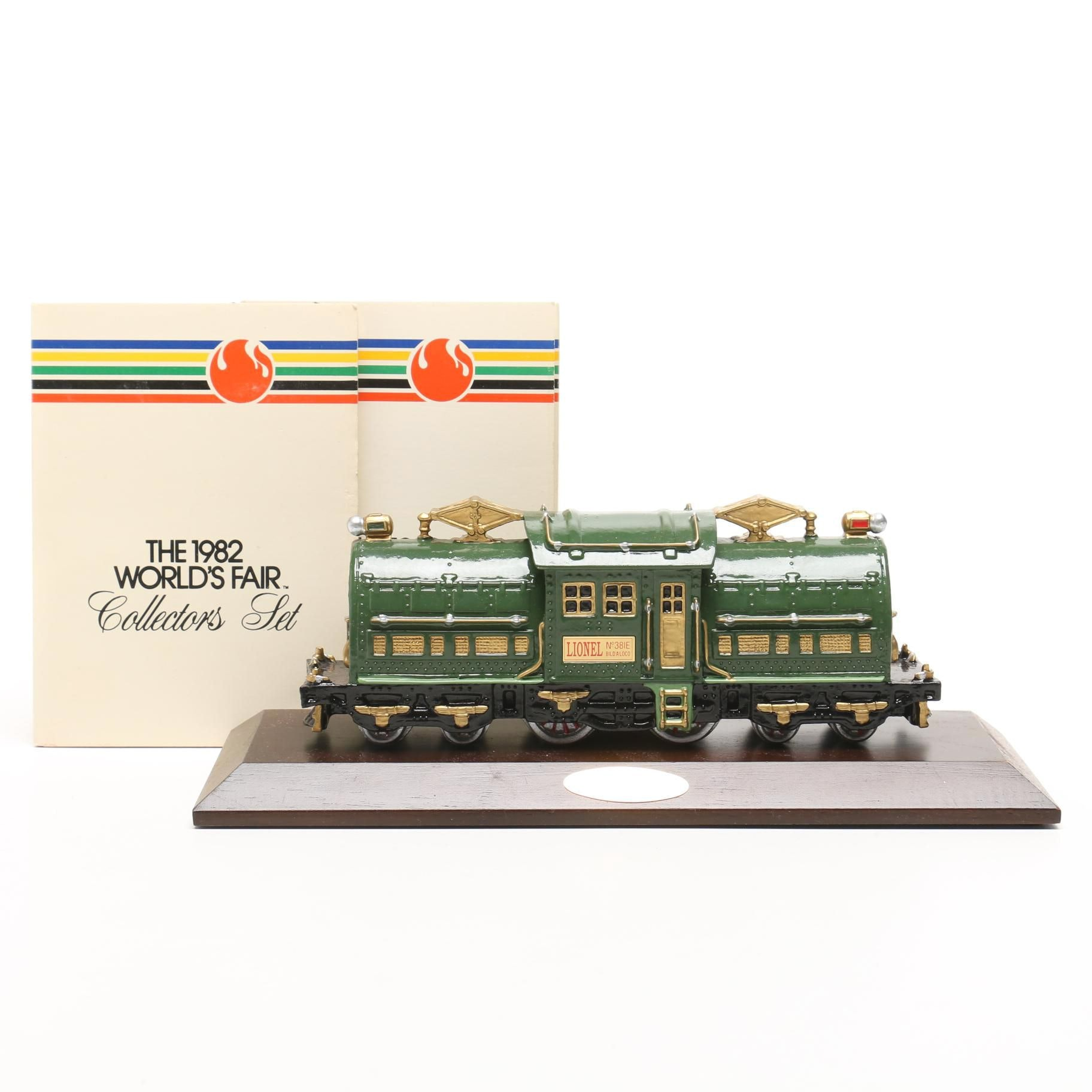 Avon Collectible Lionel Train Model and Two Sets of 1982 World's Fair Medals