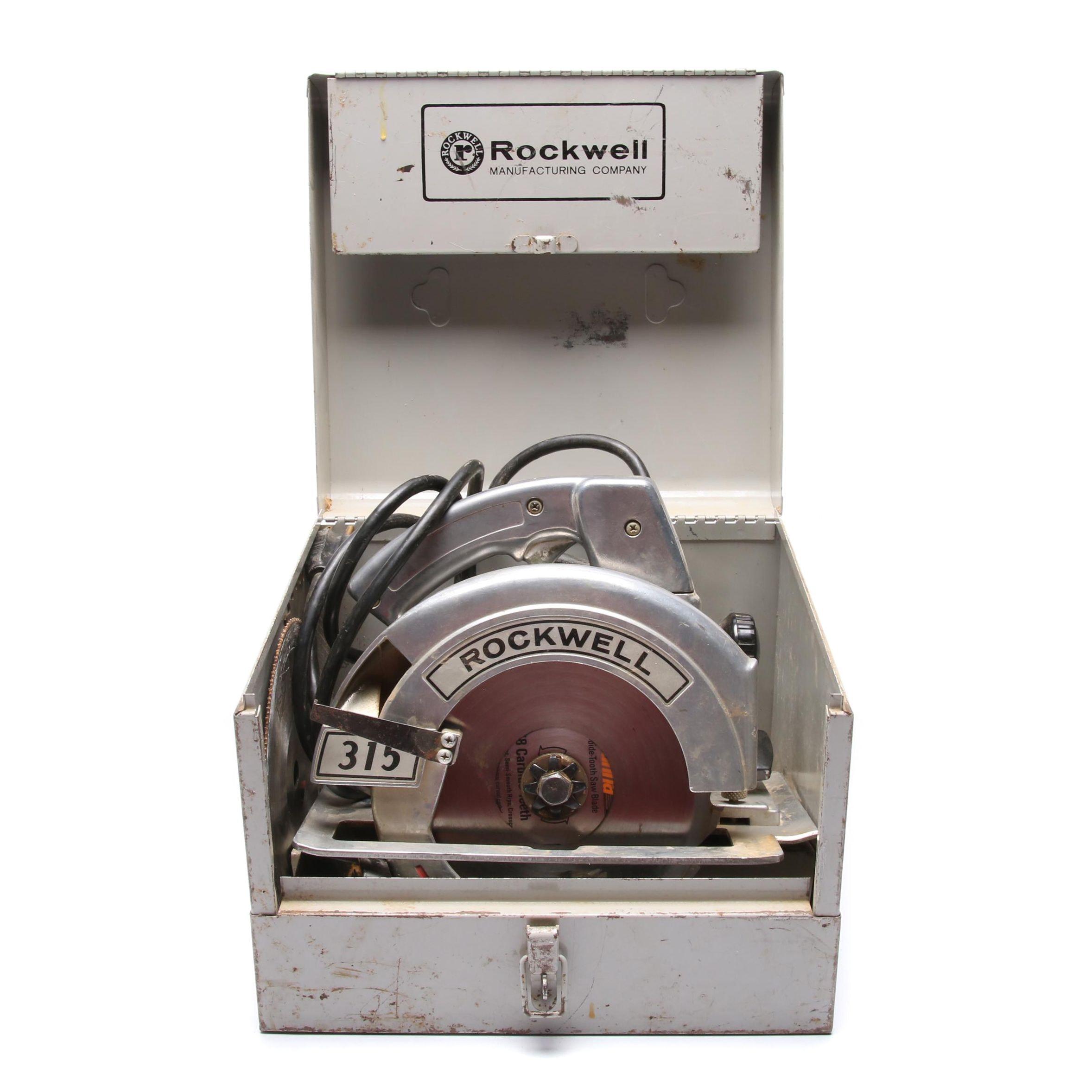"Vintage Rockwell 7 1/4"" Circular Saw"