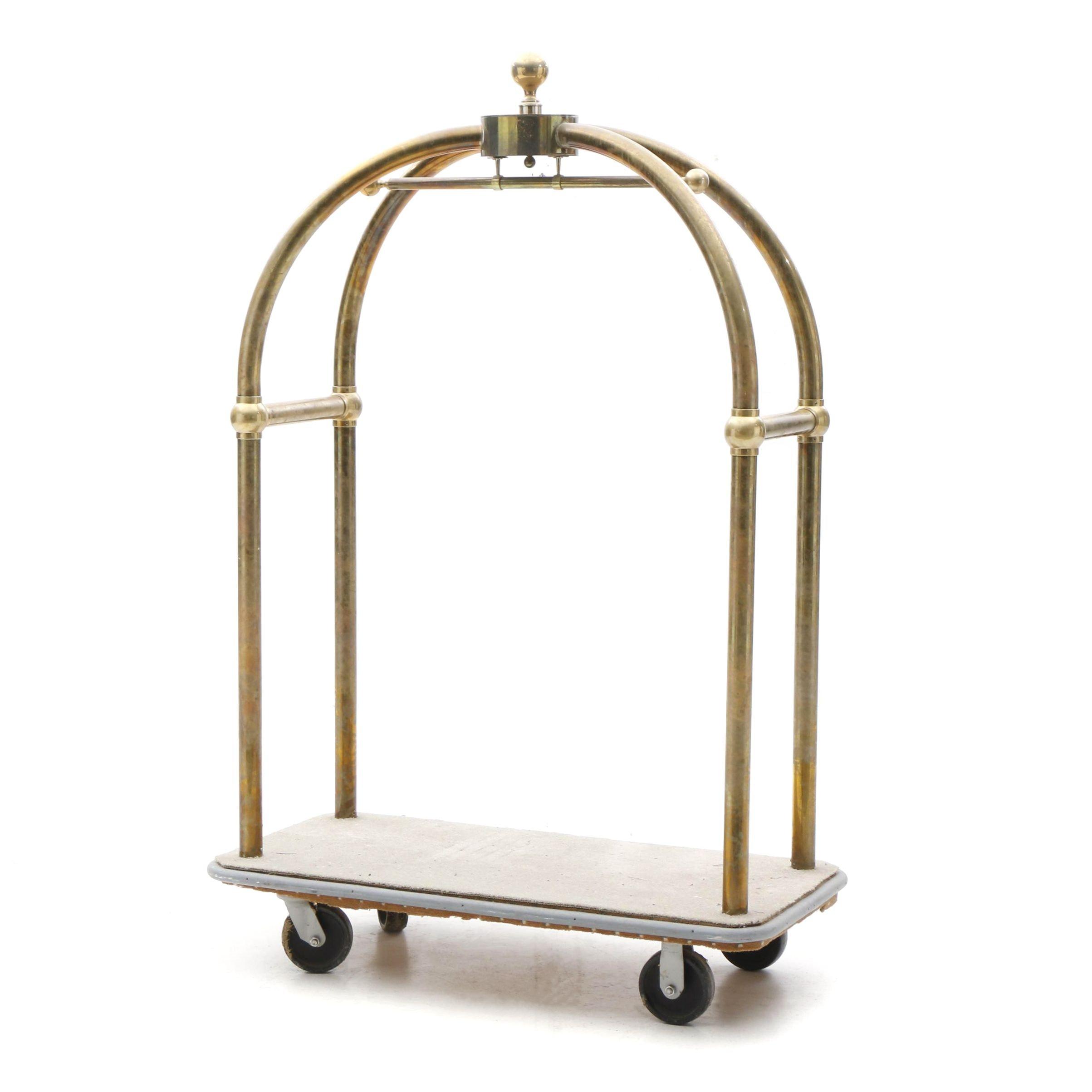 Brass Vallet Luggage Cart
