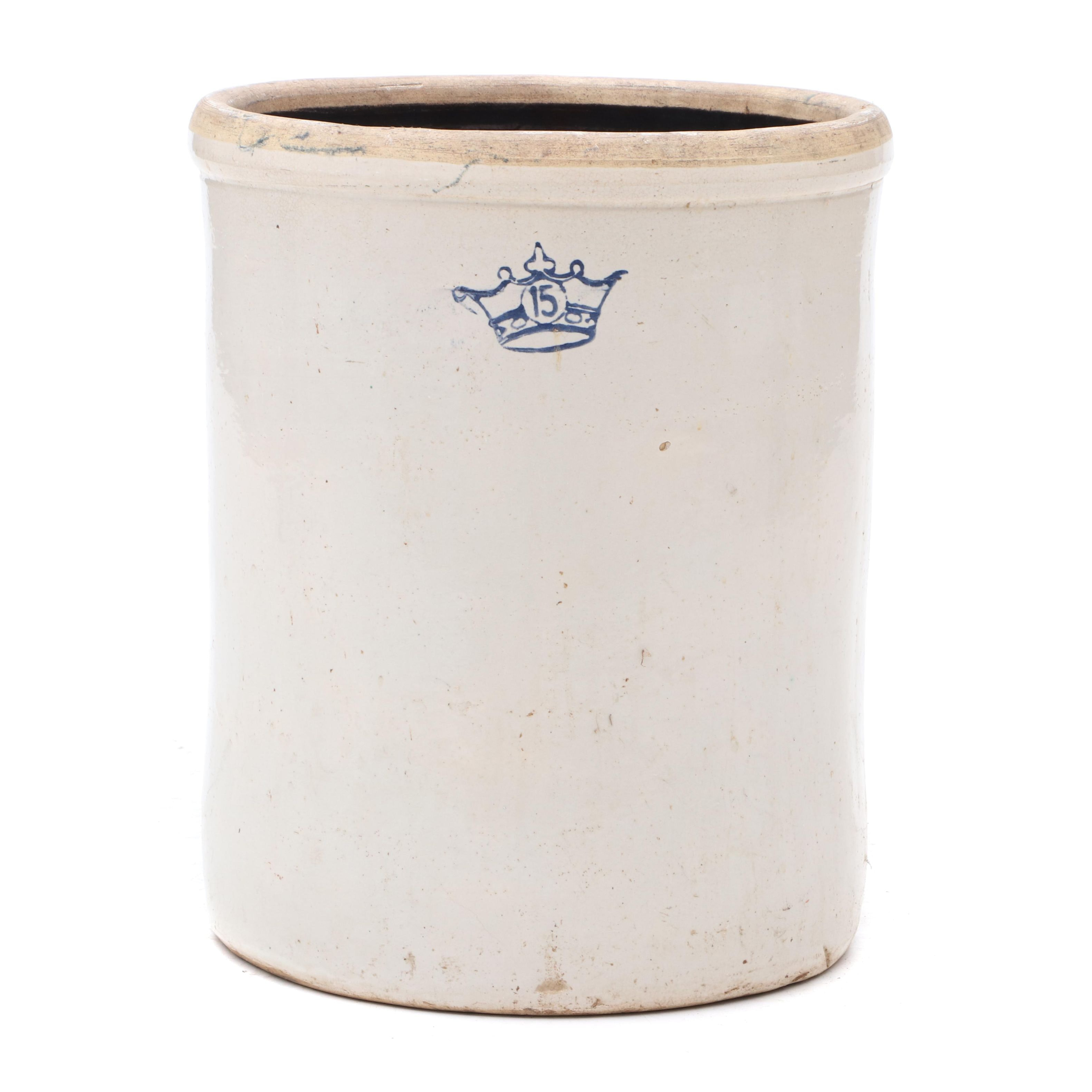 Robinson Ransbottom Fifteen Gallon Stoneware Crock