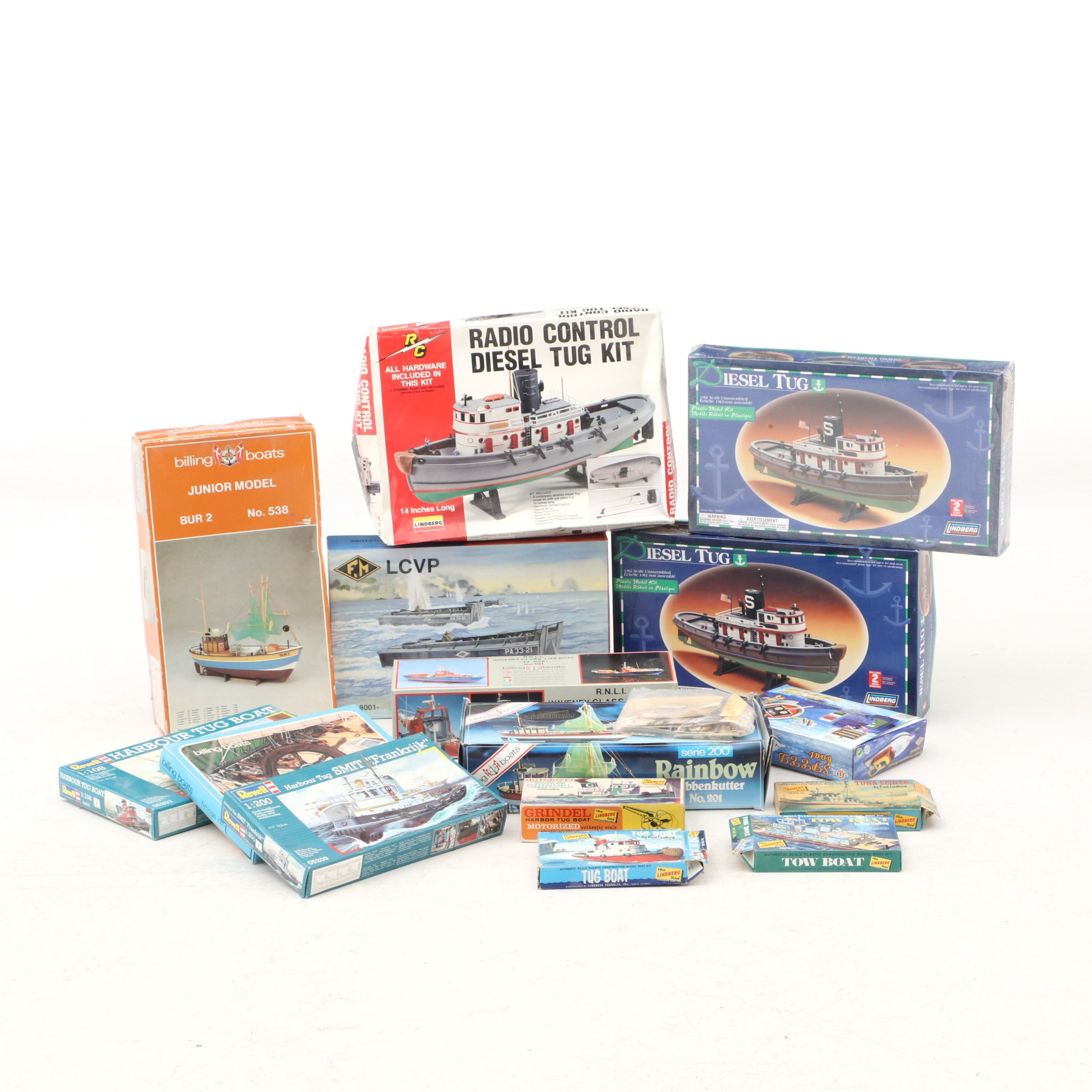 Vintage Boat Models by Revell, Billing and Others