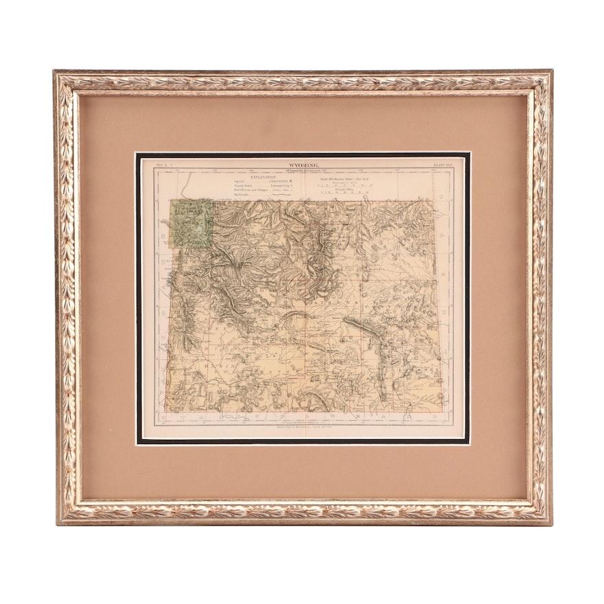 Antique Map of Wyoming : EBTH
