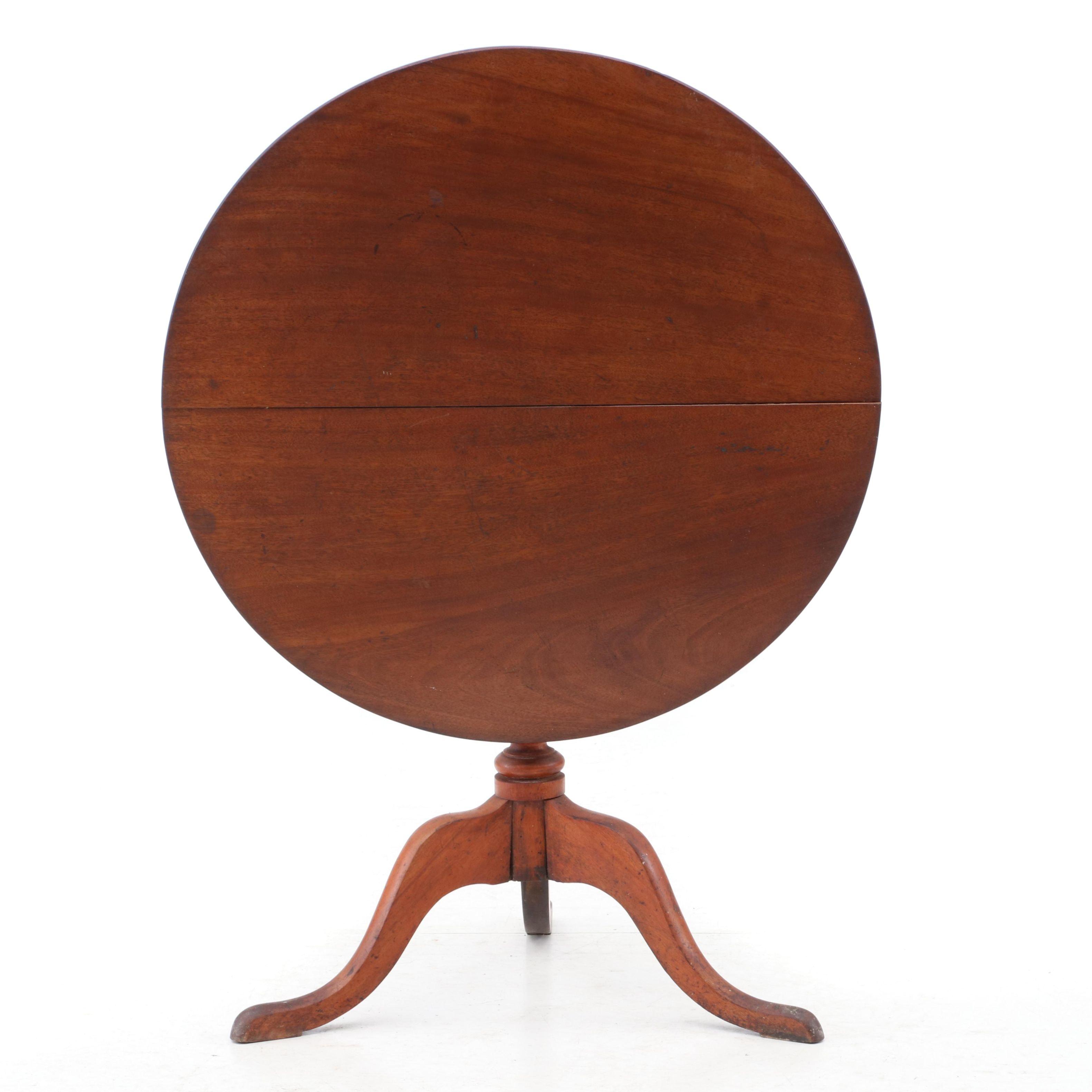 Late 18th Century Mahogany Tilt Top Table