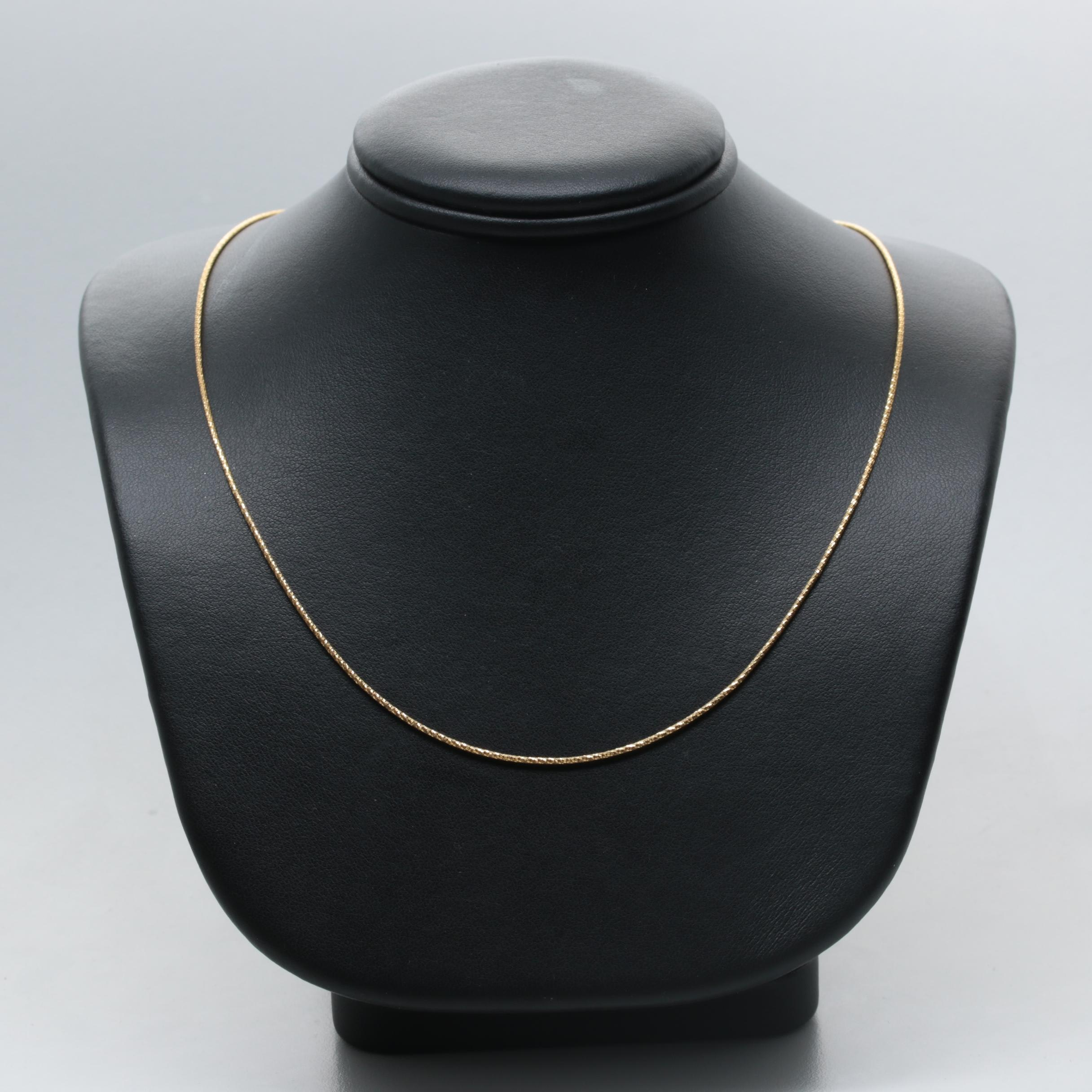 Milor 14K Yellow Gold Chain Link Necklace