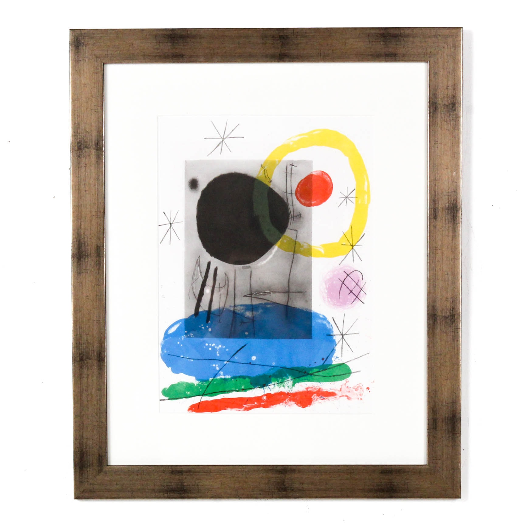 "Joan Miró Color lithograph from ""Derriere le Miroir"""
