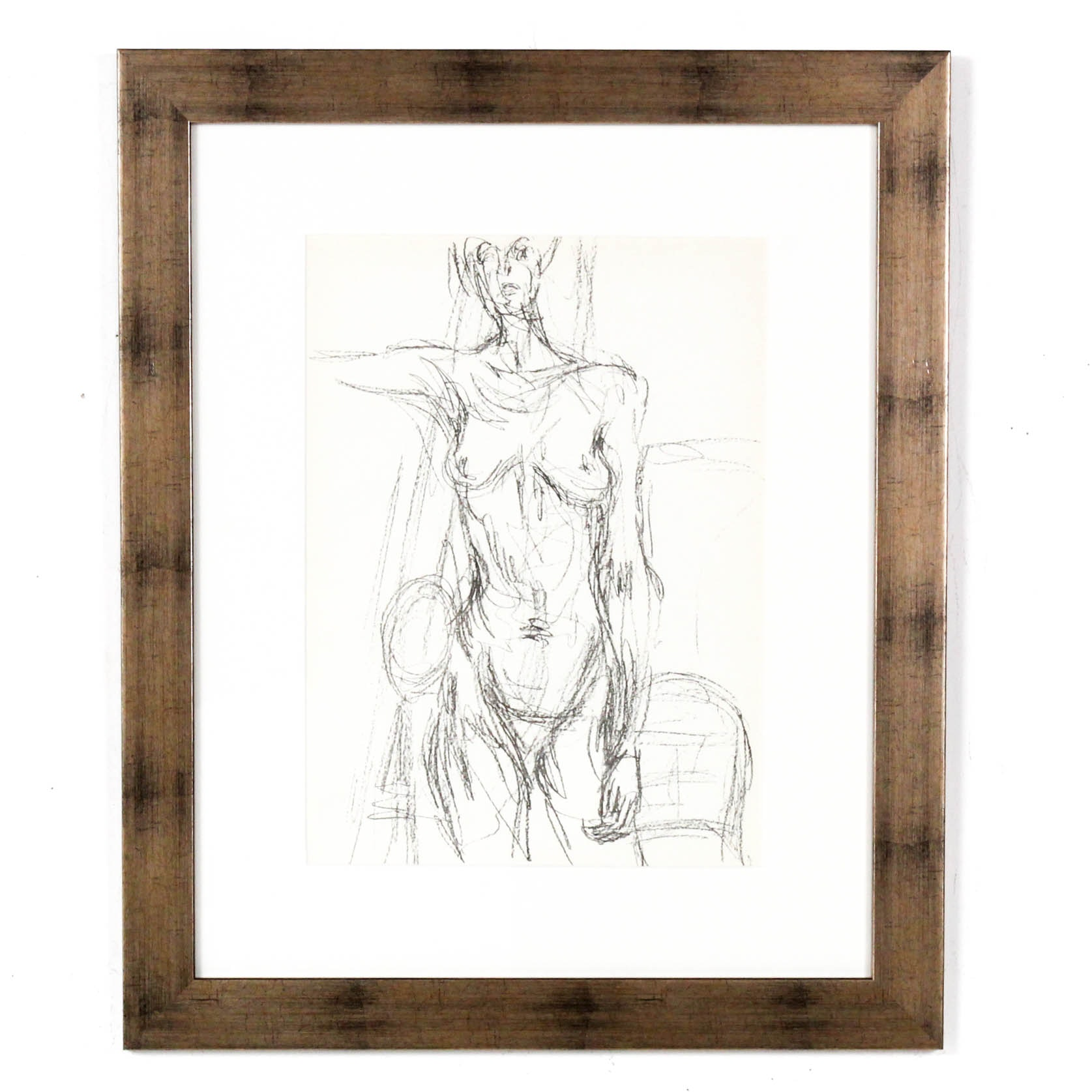 """Alberto Giacometti Lithograph from """"Derriere le Miroir"""""""