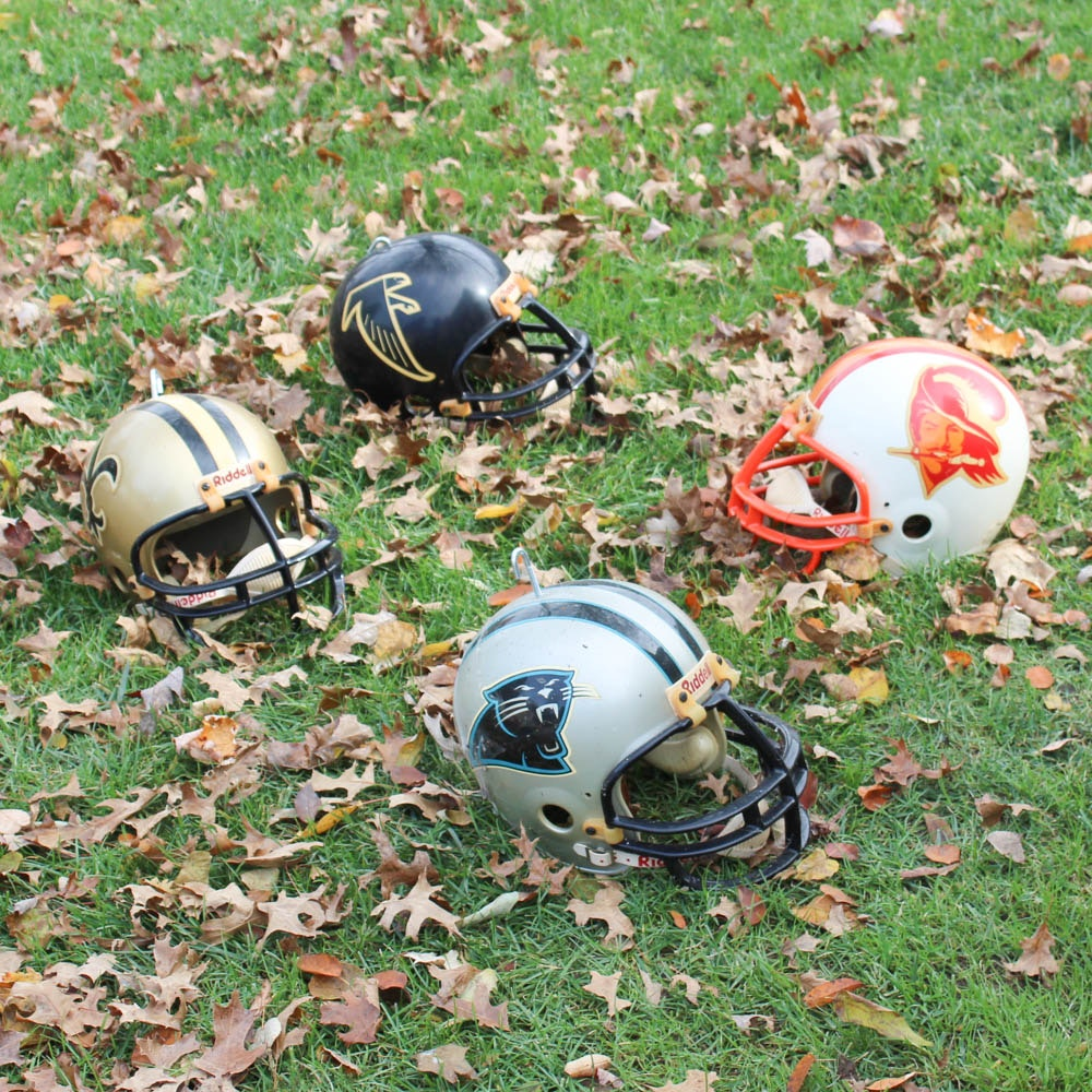 Vintage NFC South Division Football Helmets