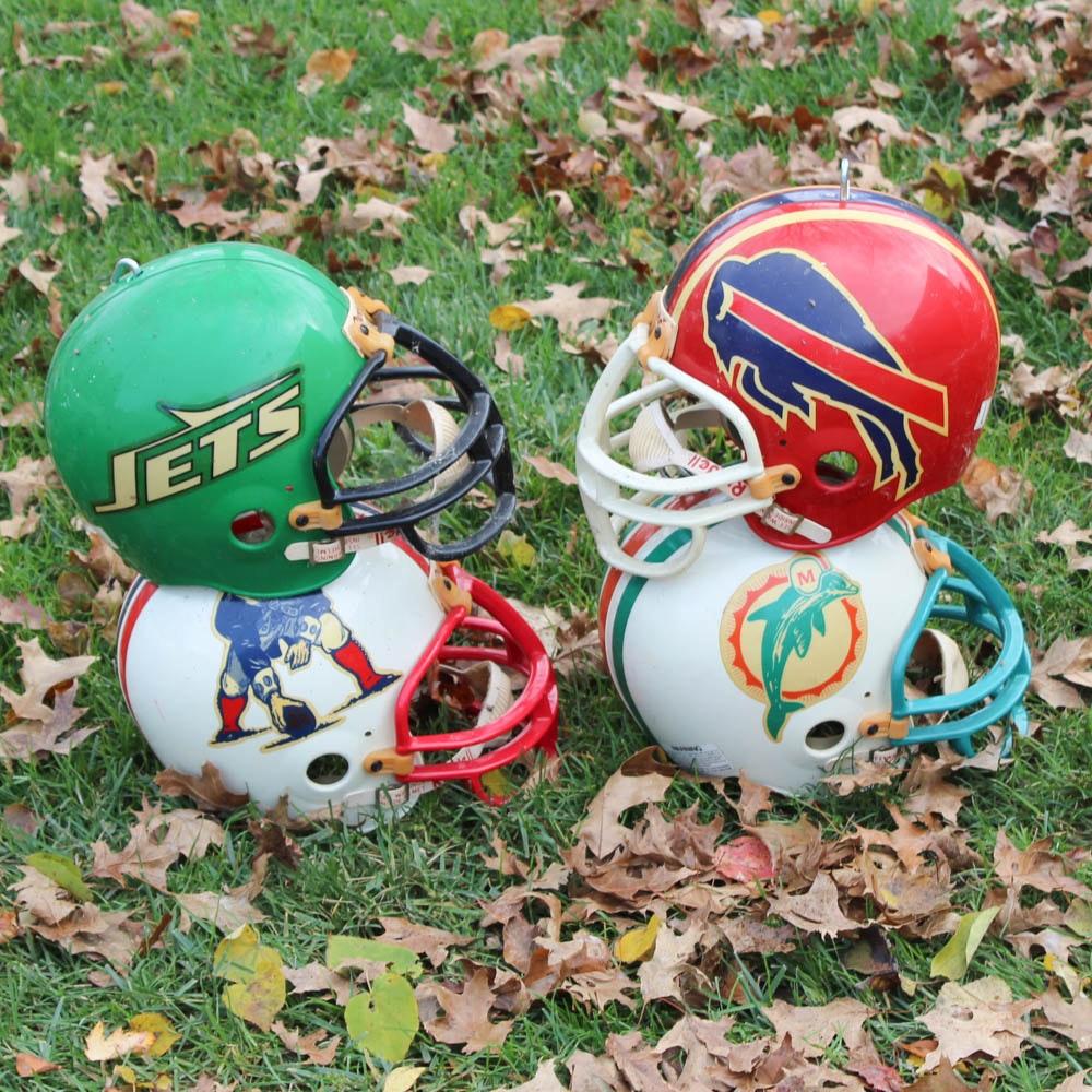 Vintage AFC East Division Football Helmets