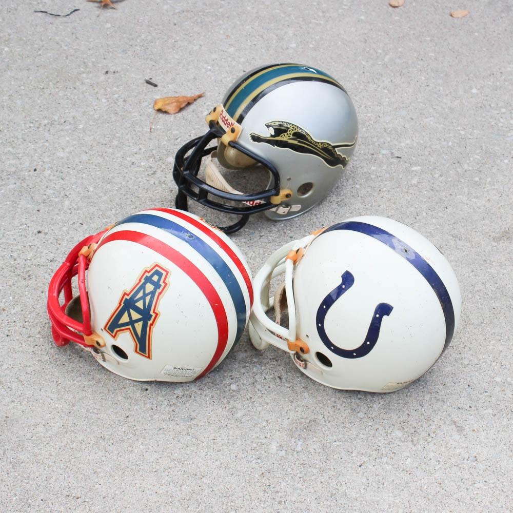 Vintage AFC South Division Football Helmets
