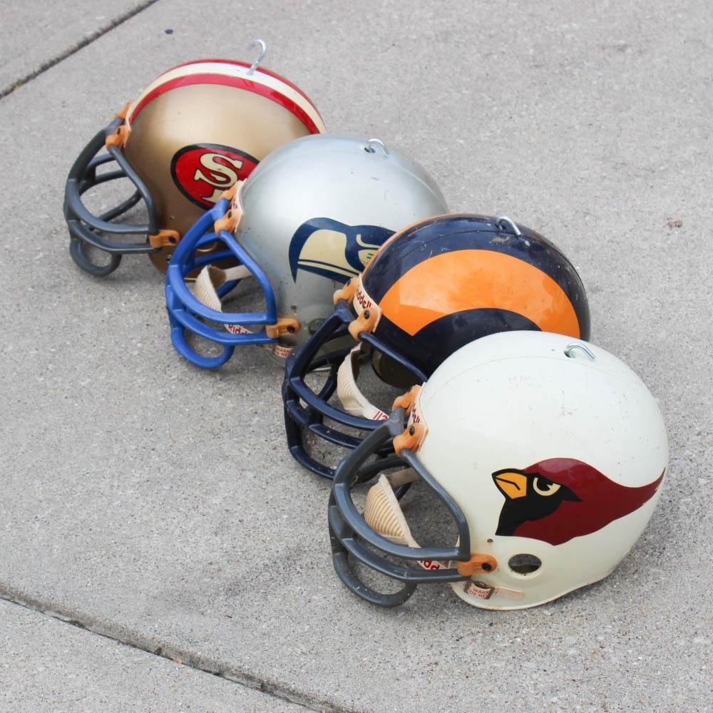 Vintage NFC West Division Football Helmets