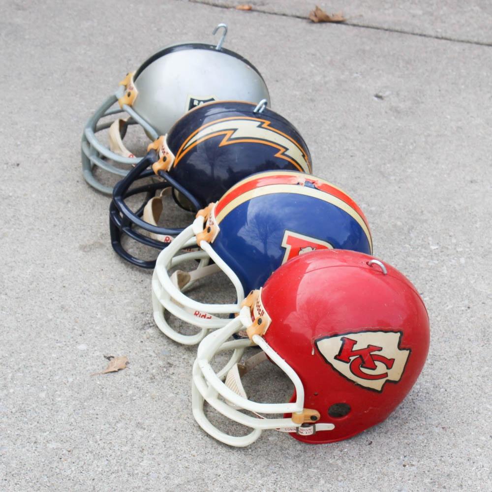 Vintage AFC West Division Football Helmets